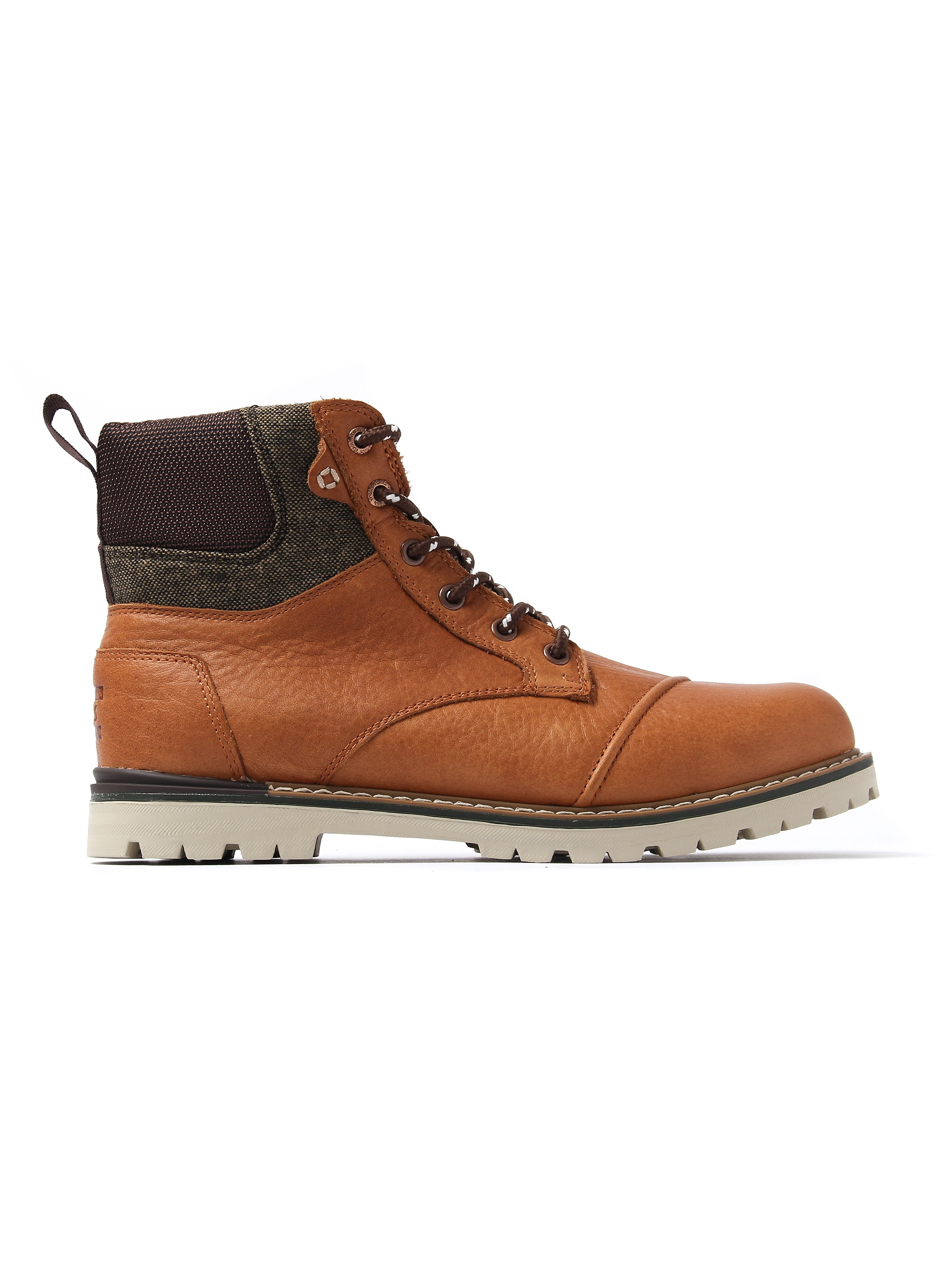 Toms Men's Ashland Waterproof Boots - Dark Toffee Leather