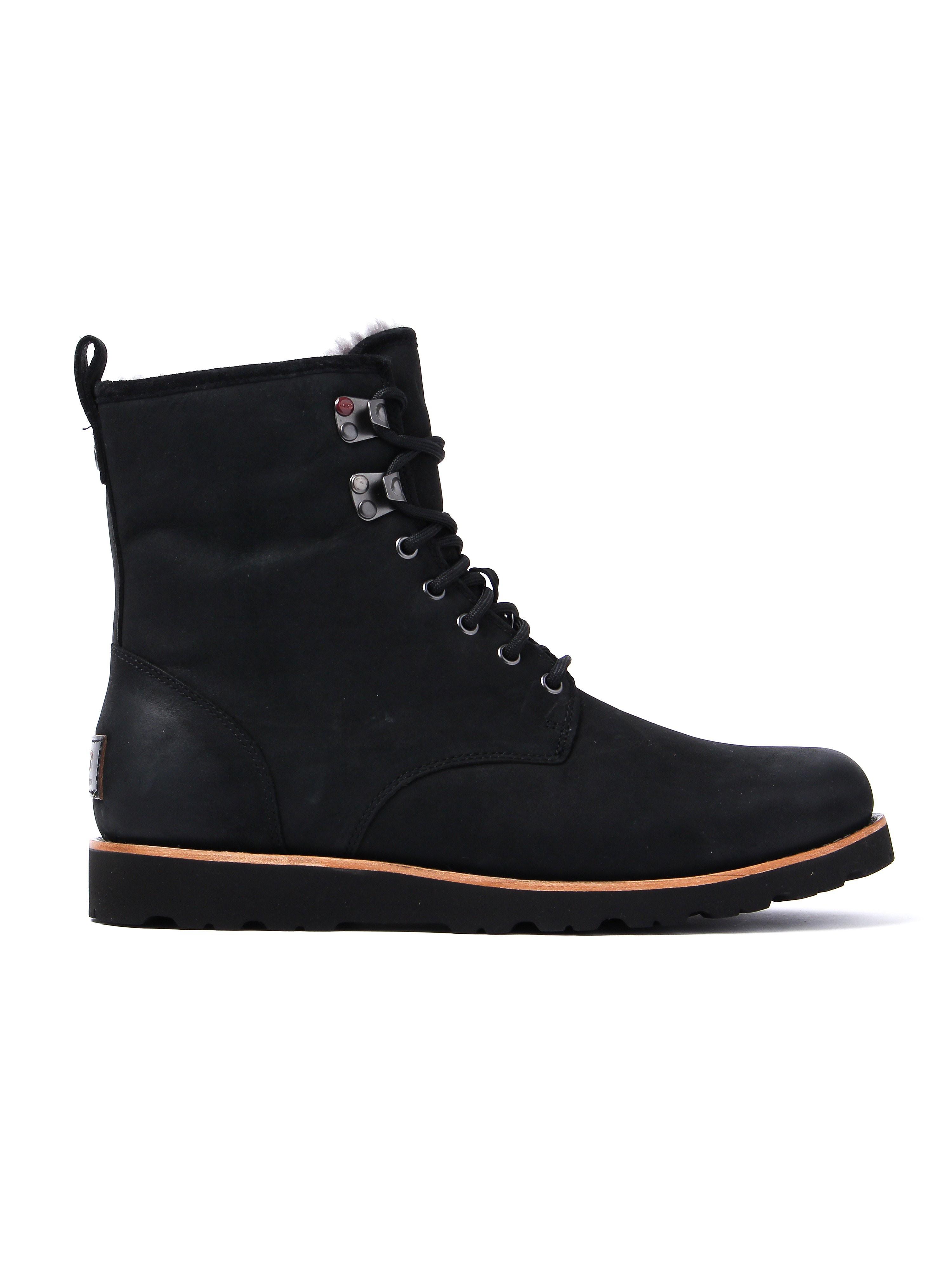 UGG Men's Hannen Walking Boots  - Black Suede