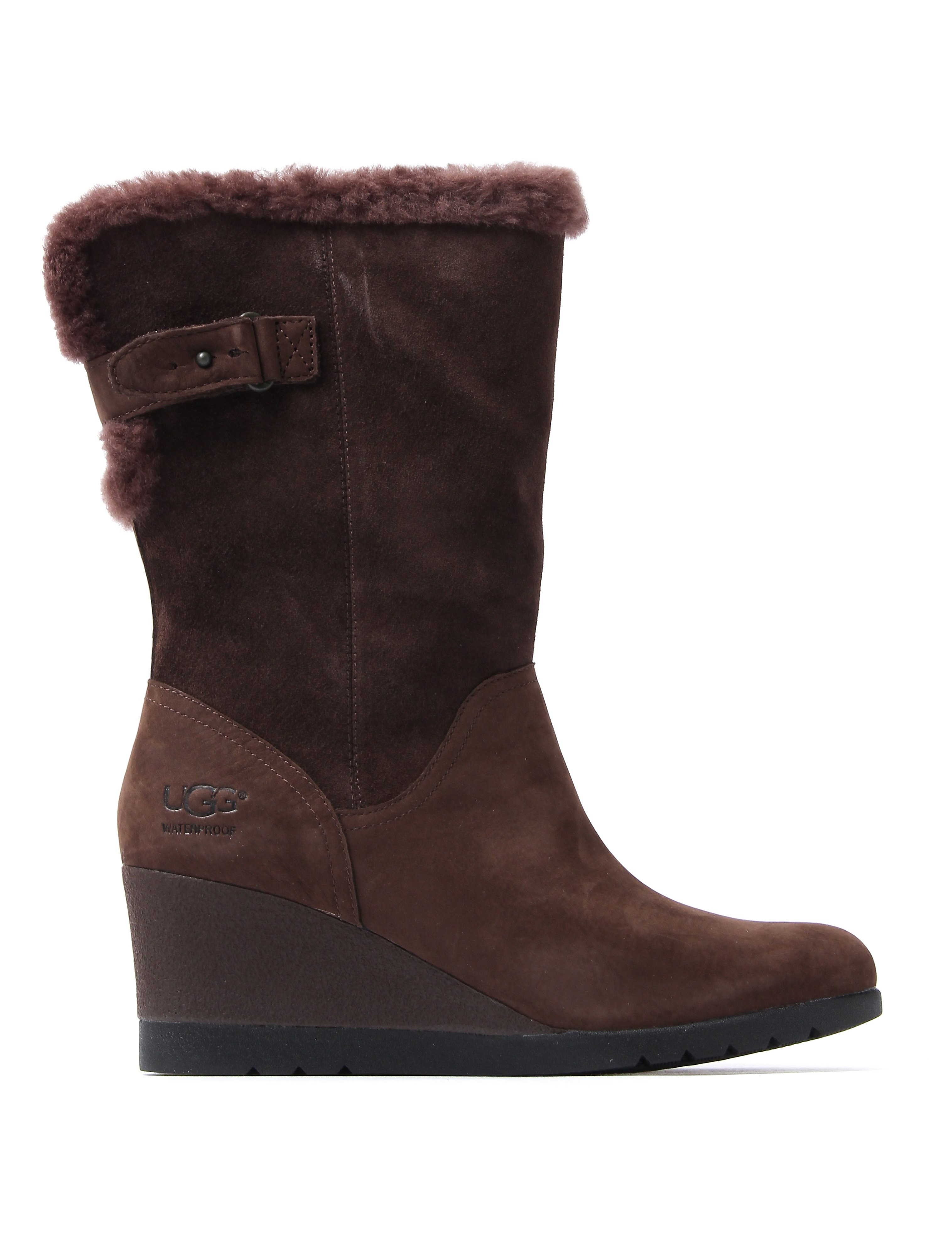 UGG Women's Edelina Tall Boots - Grizzly Suede