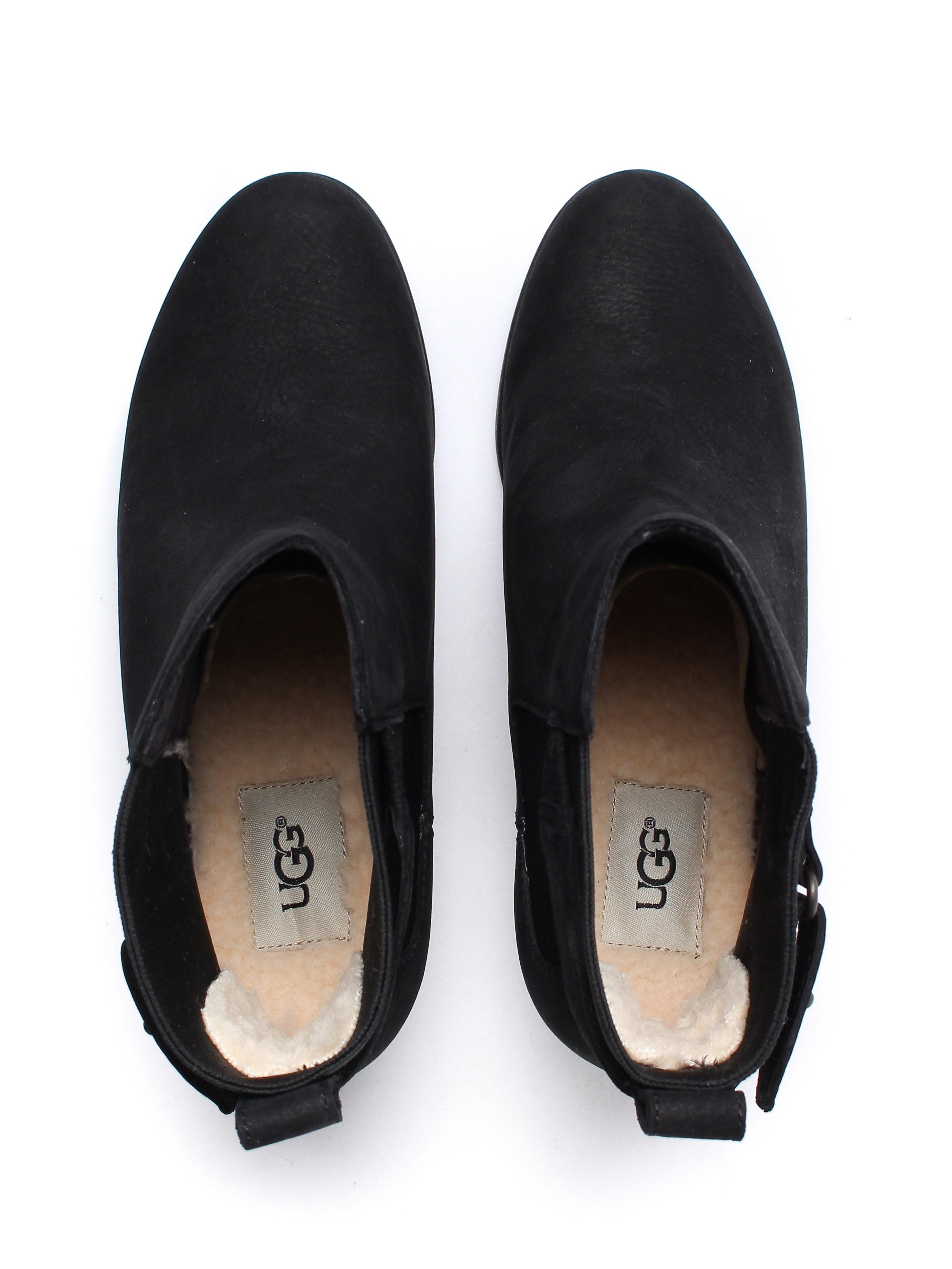 UGG Women's Indra Waterproof Boots - Black Suede