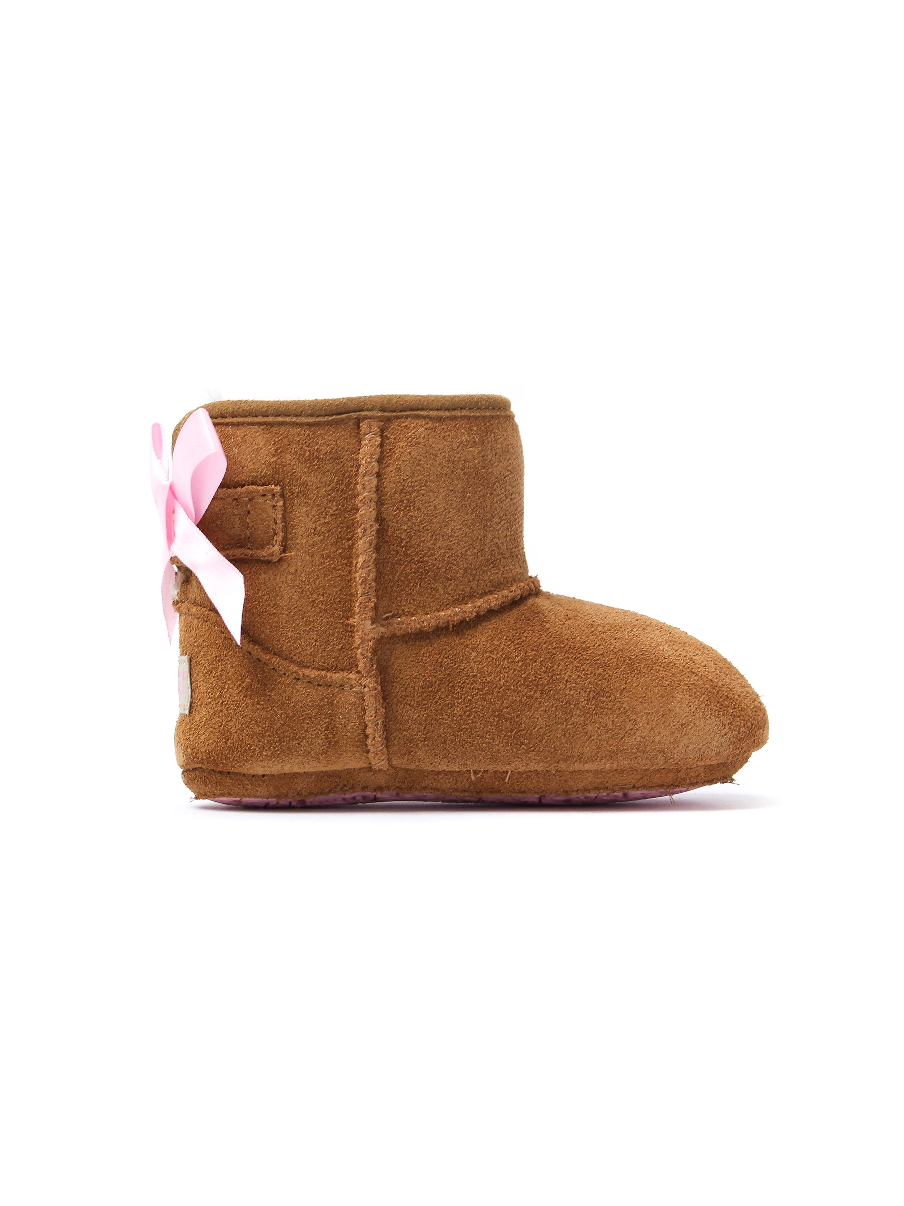 UGG Infant Iche Jesse Bow II Boots - Chestnut Suede