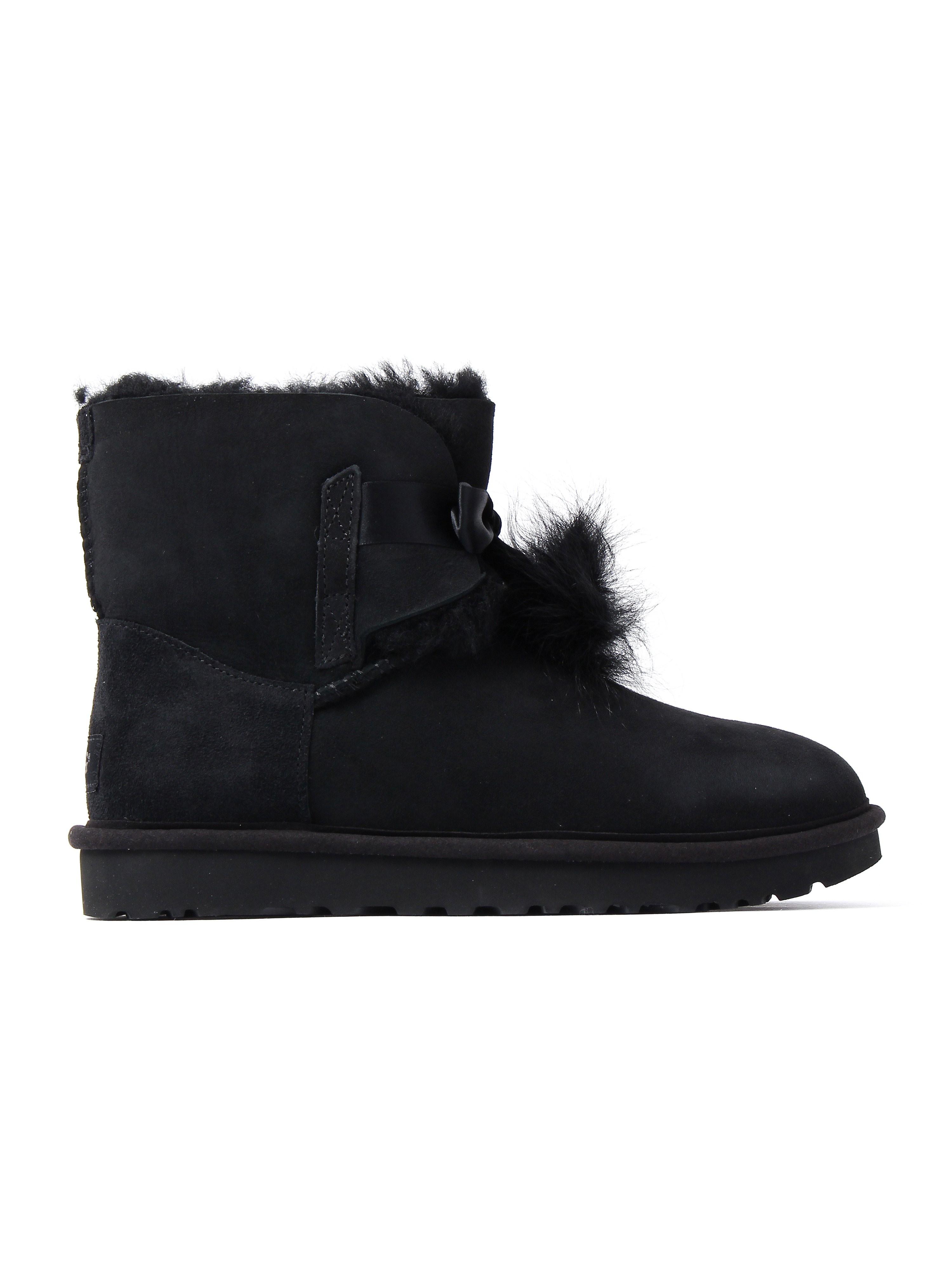 UGG Women's Gita Twinface Boots - Black Suede
