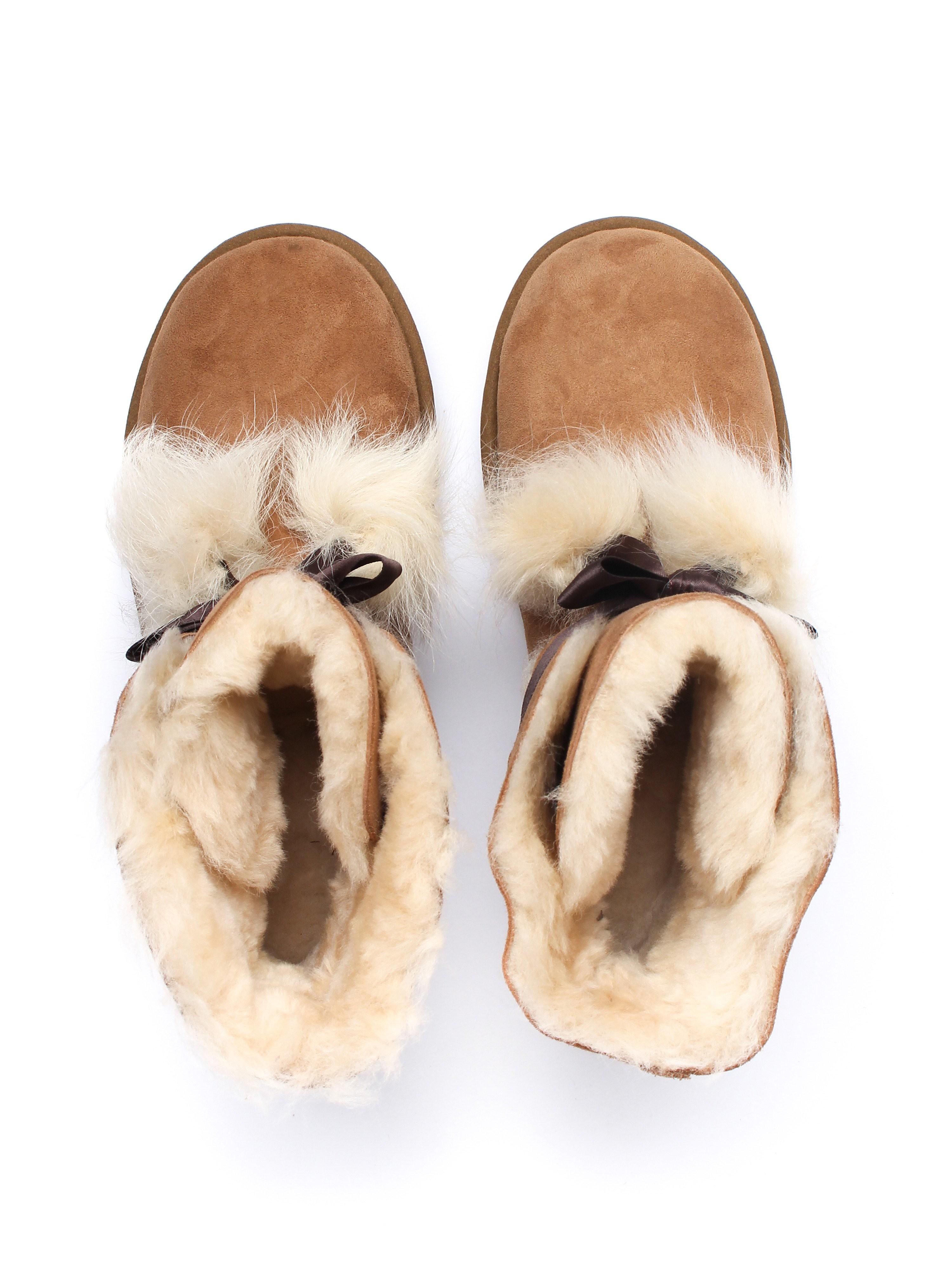 UGG Women's Gita Twinface Boots - Chestnut