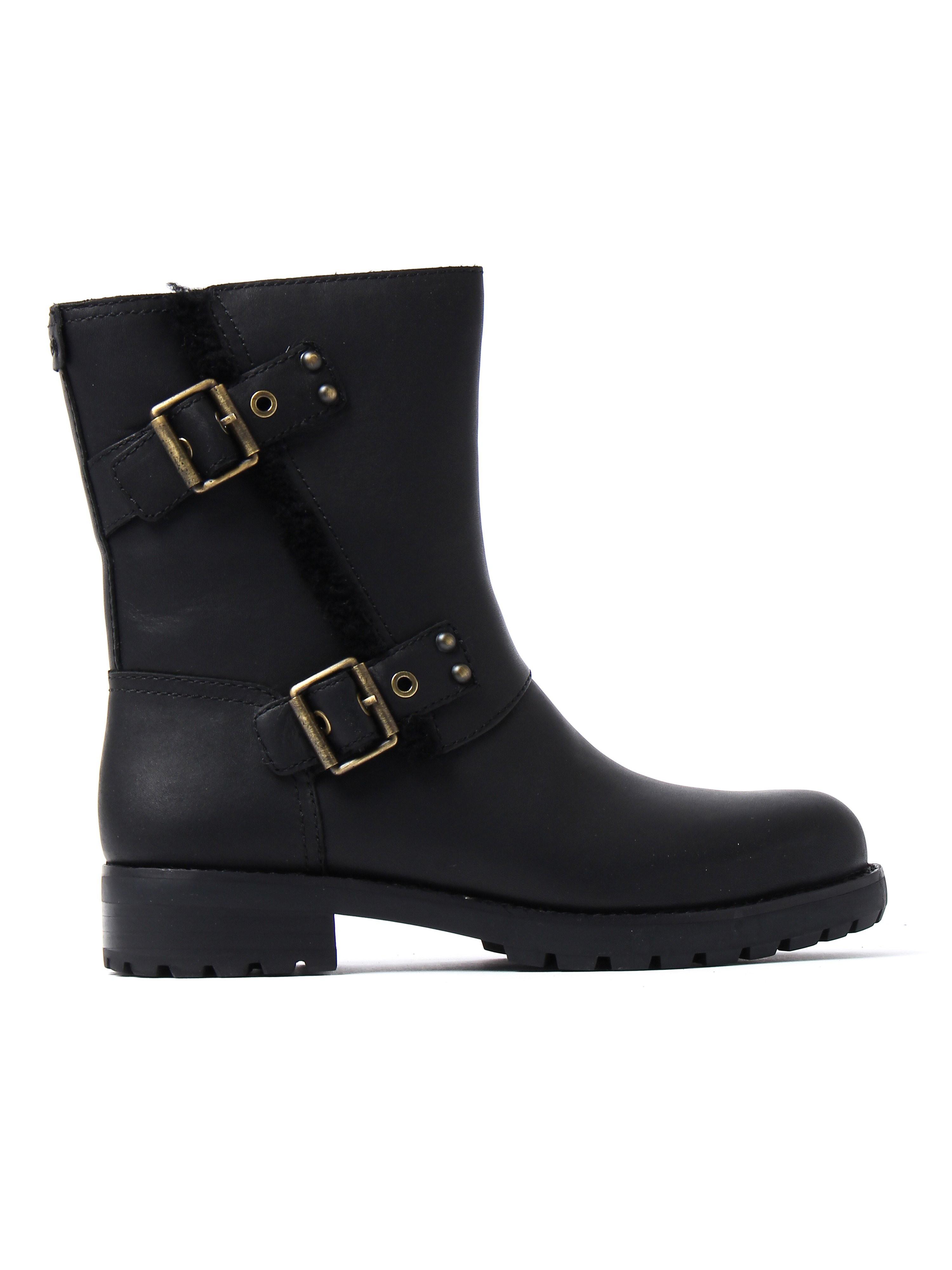 UGG Women's Niels Biker Boots - Black Leather