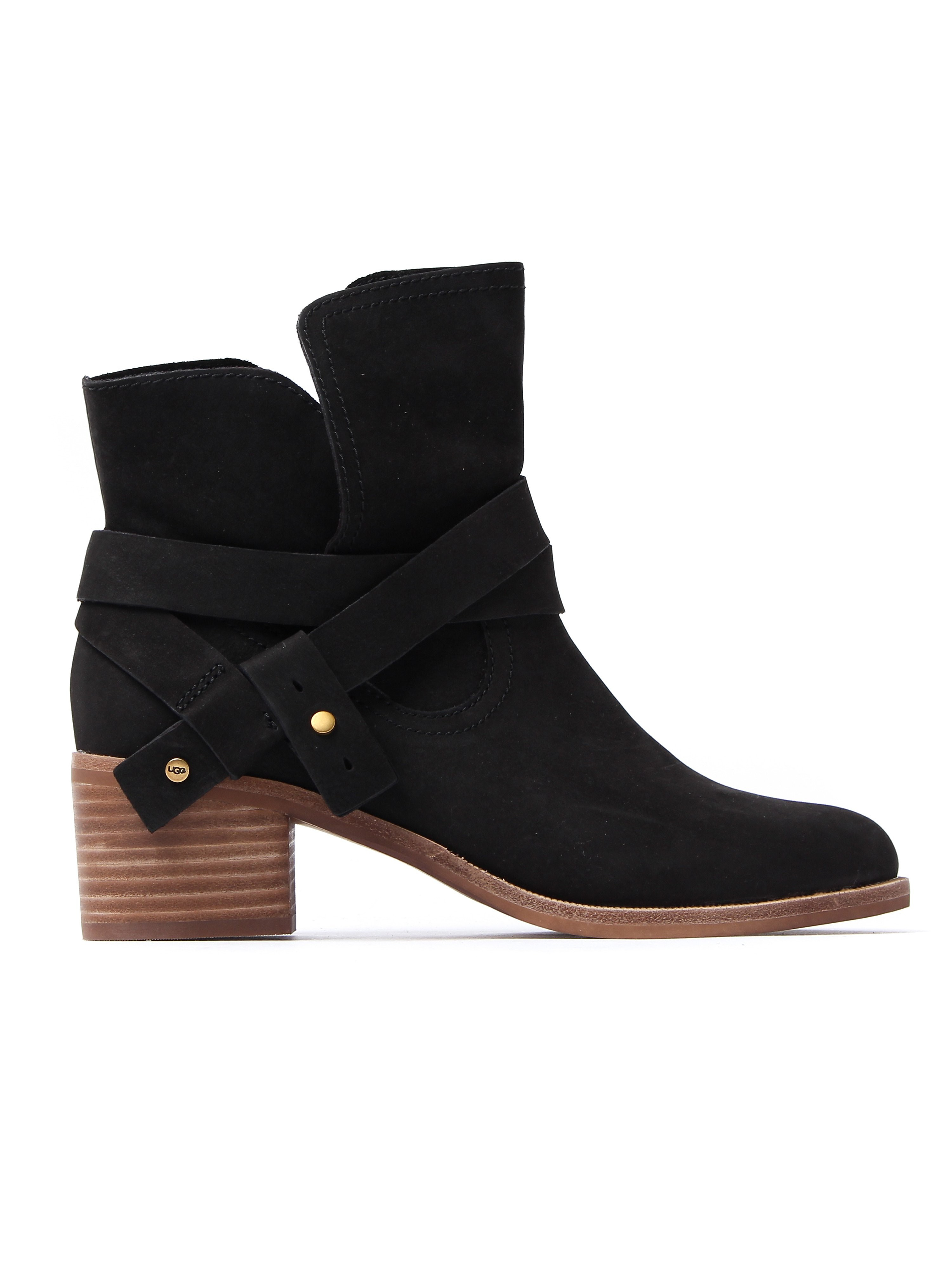 UGG Women's Elora Ankle Boots - Black Nubuck