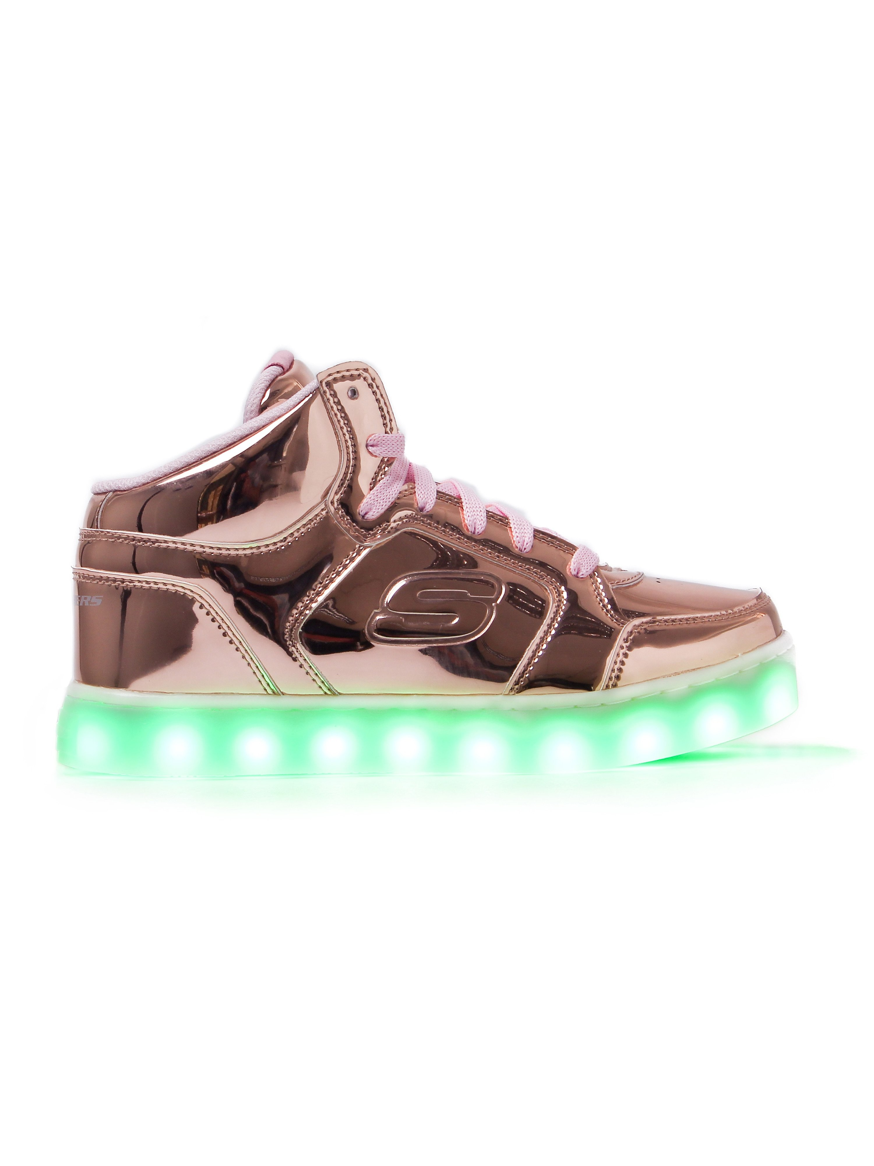 Skechers Kids Energy Lights Dance N Dazzle Trainers - Rose Gold