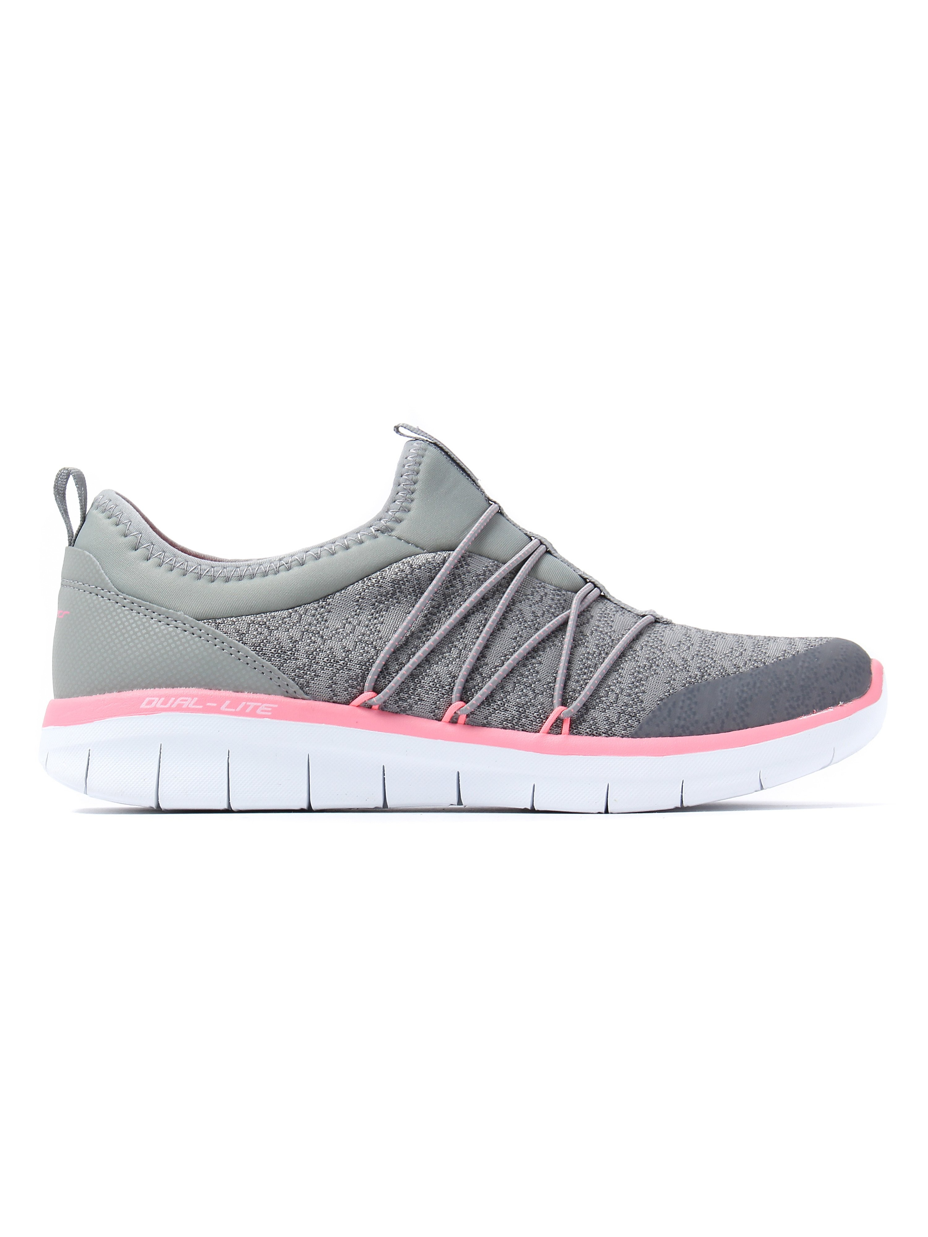 Skechers Women's Synergy 2.0 Simply Chic Trainers - Grey / Pink