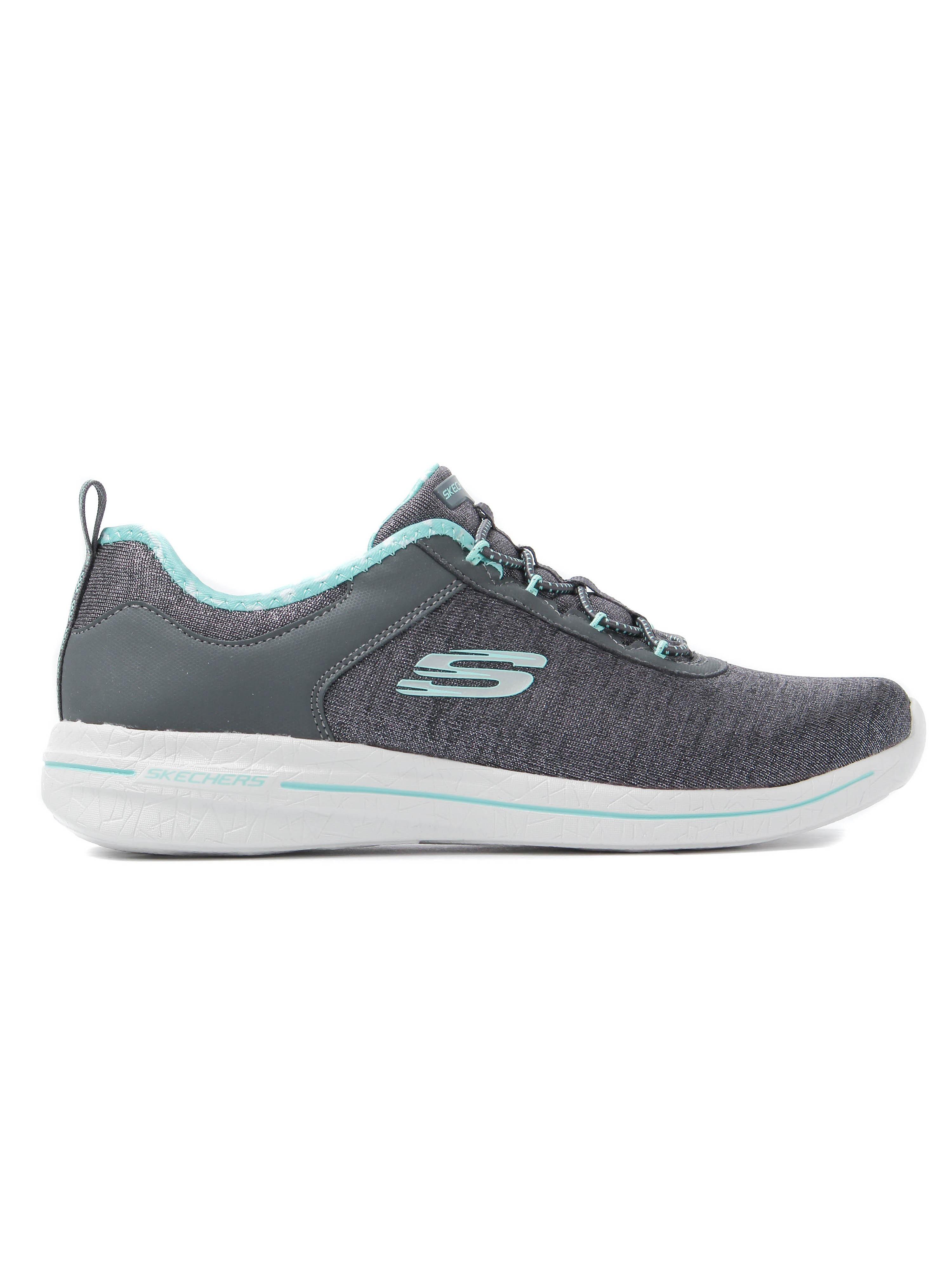 Skechers Women's Burst 2.0 Sunny Side Trainers - Charcoal & Light Blue