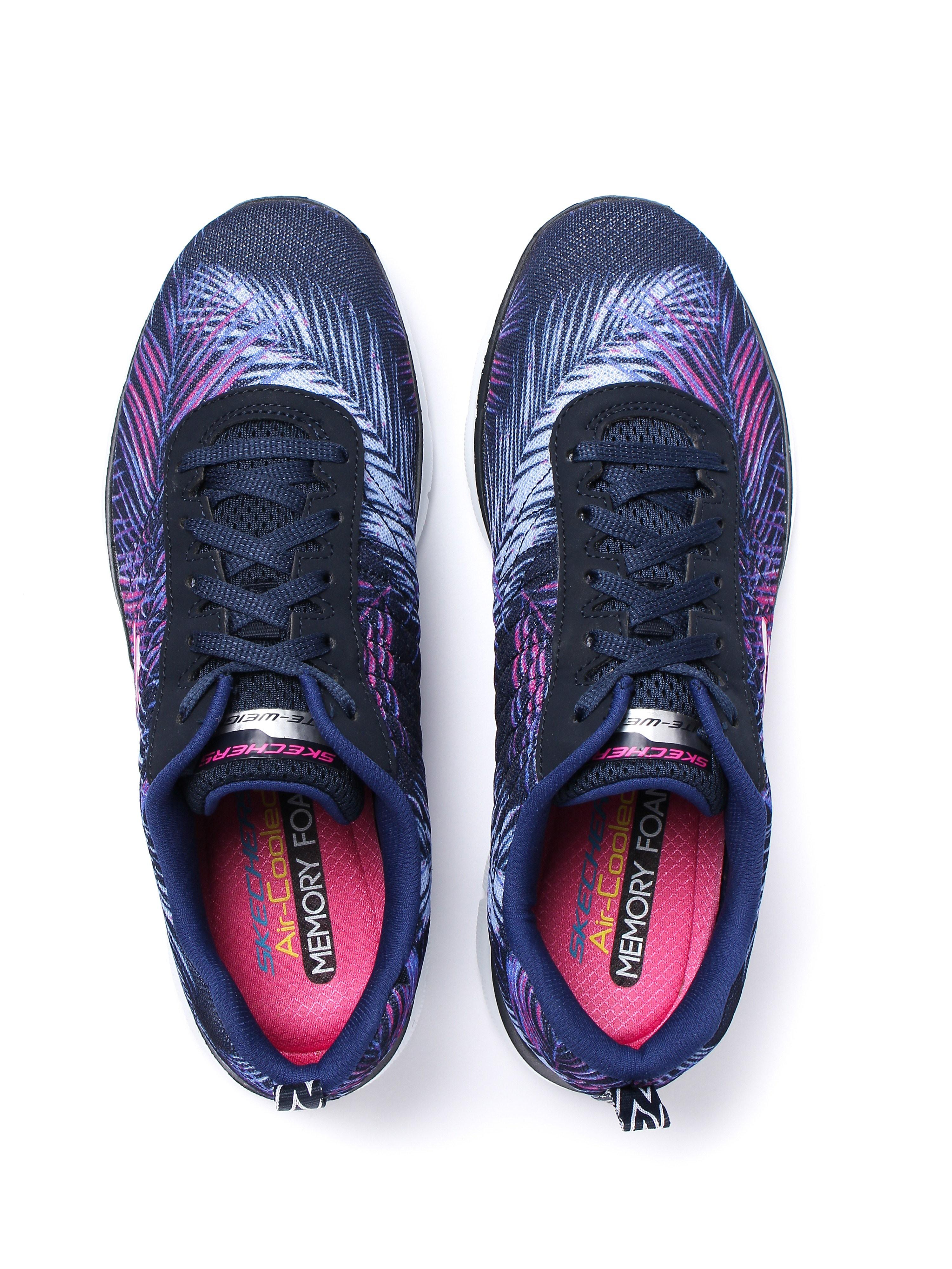 Skechers Women's Flex Appeal 2.0 Tropical Breeze Trainers - Navy/Pink
