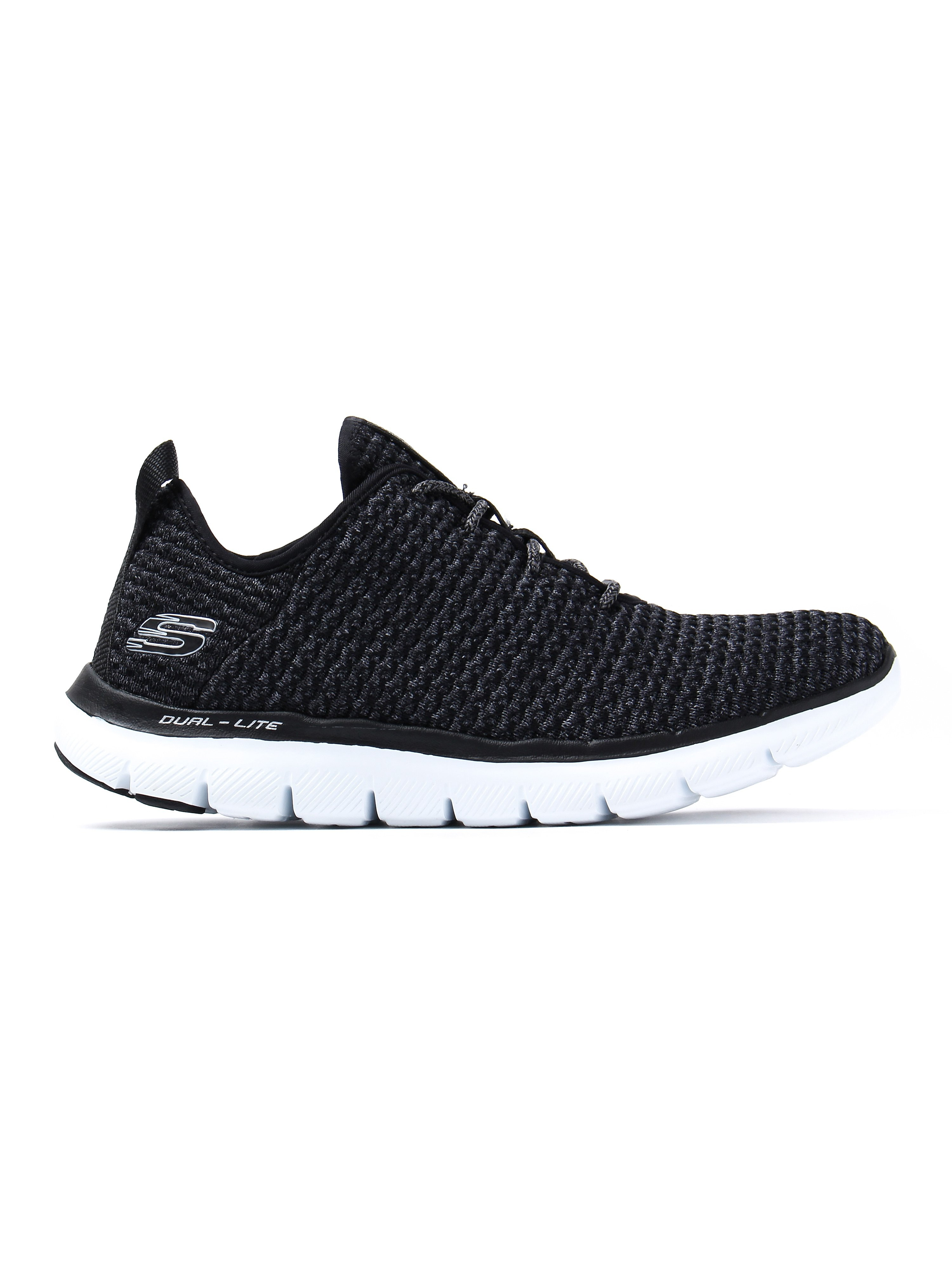 Skechers Women's Flex Appeal 2.0 Bold Move Trainers - Black / White