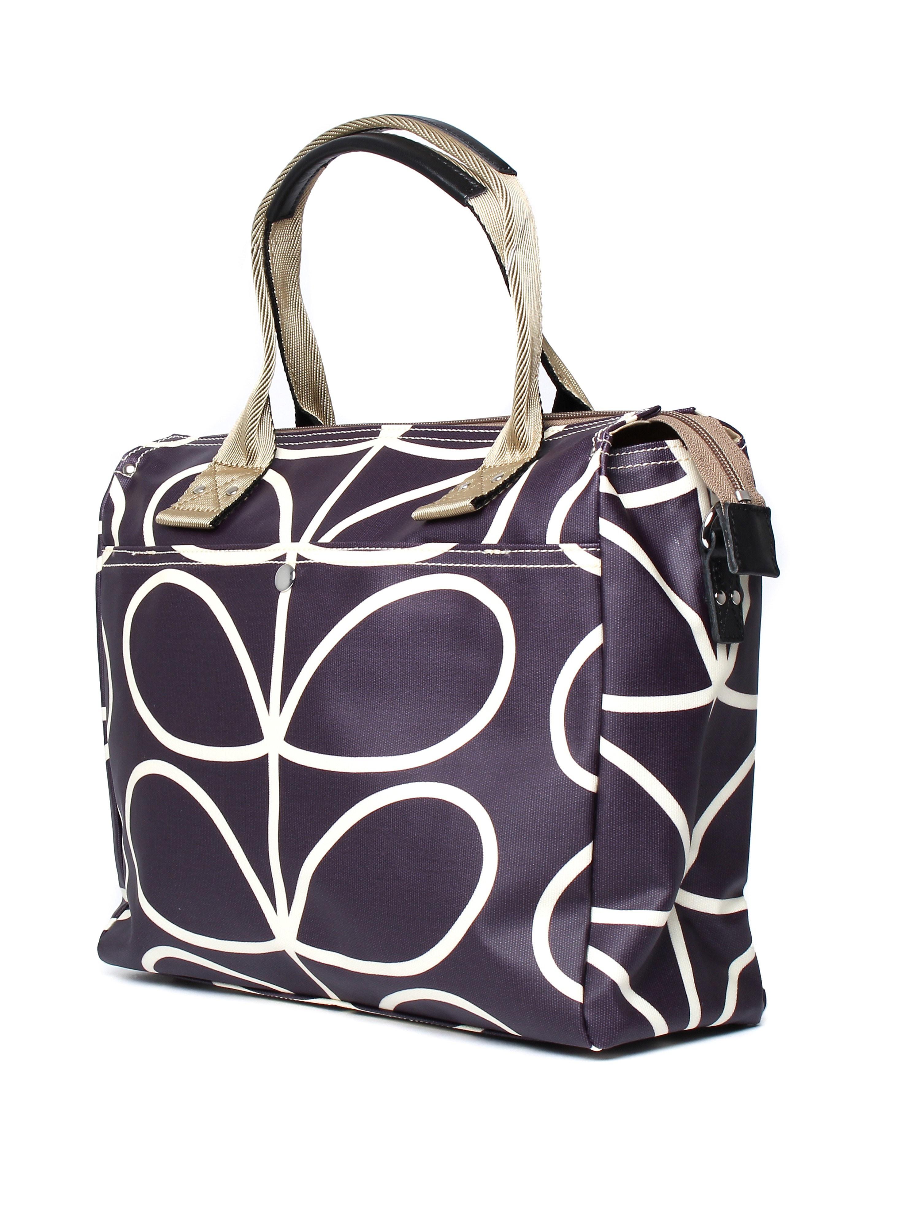 Orla Kiely Women's Zip Messenger Bag - Orchid