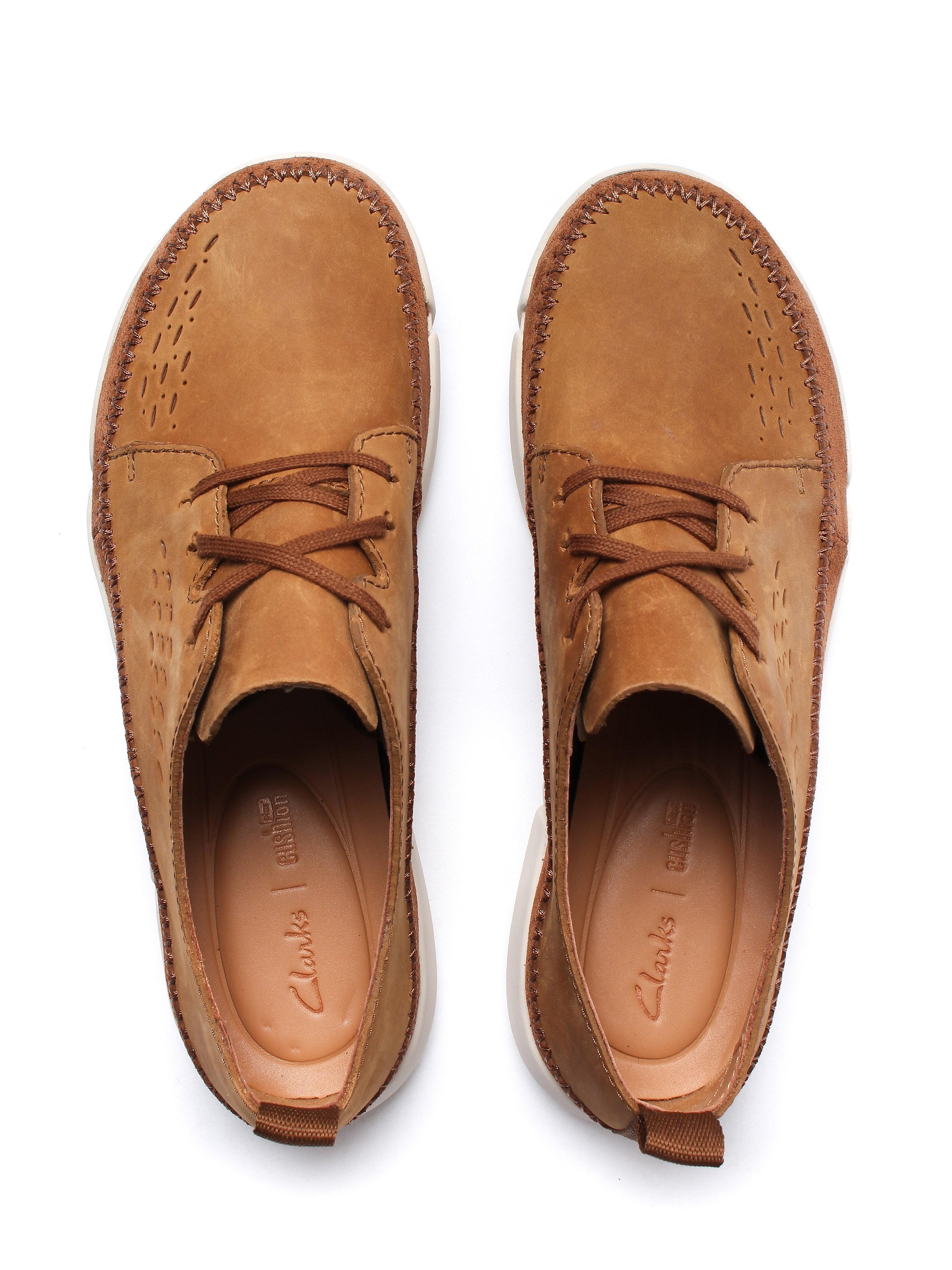 Clarks Men's Trifri Lace Shoes - Tobacco Nubuck