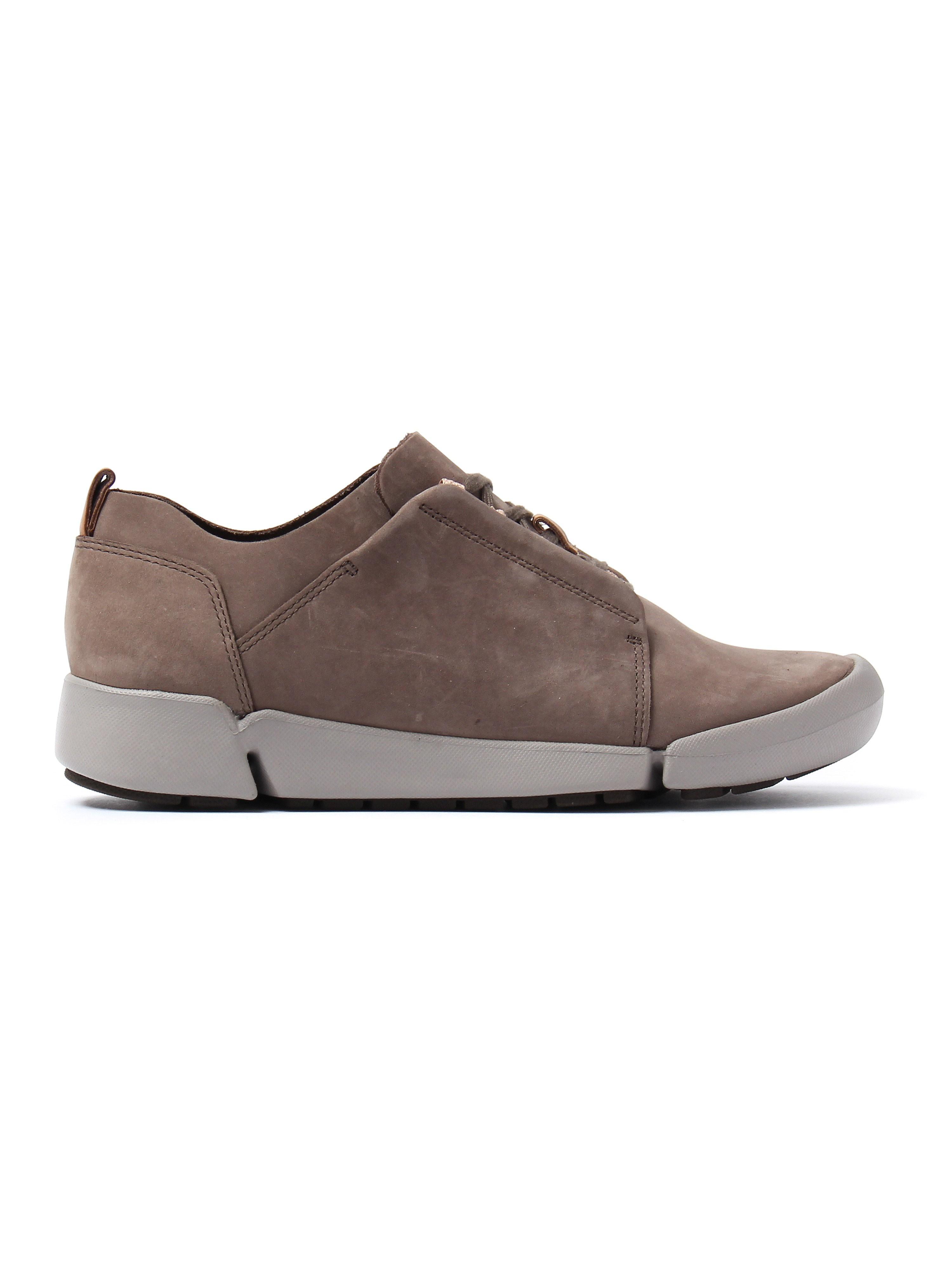 Clarks Women's Tri Bella Shoes - Grey Nubuck