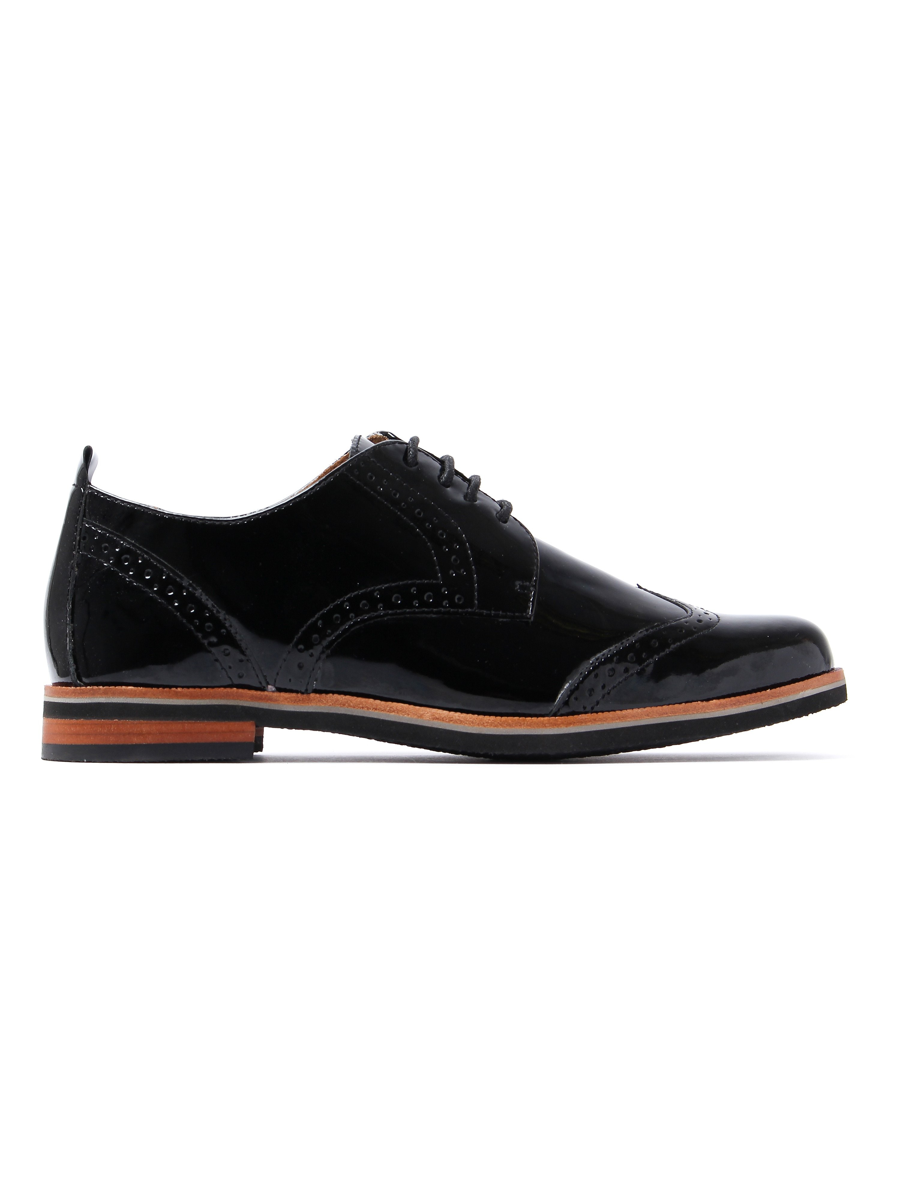 Caprice Women's Brogues - Black Patent