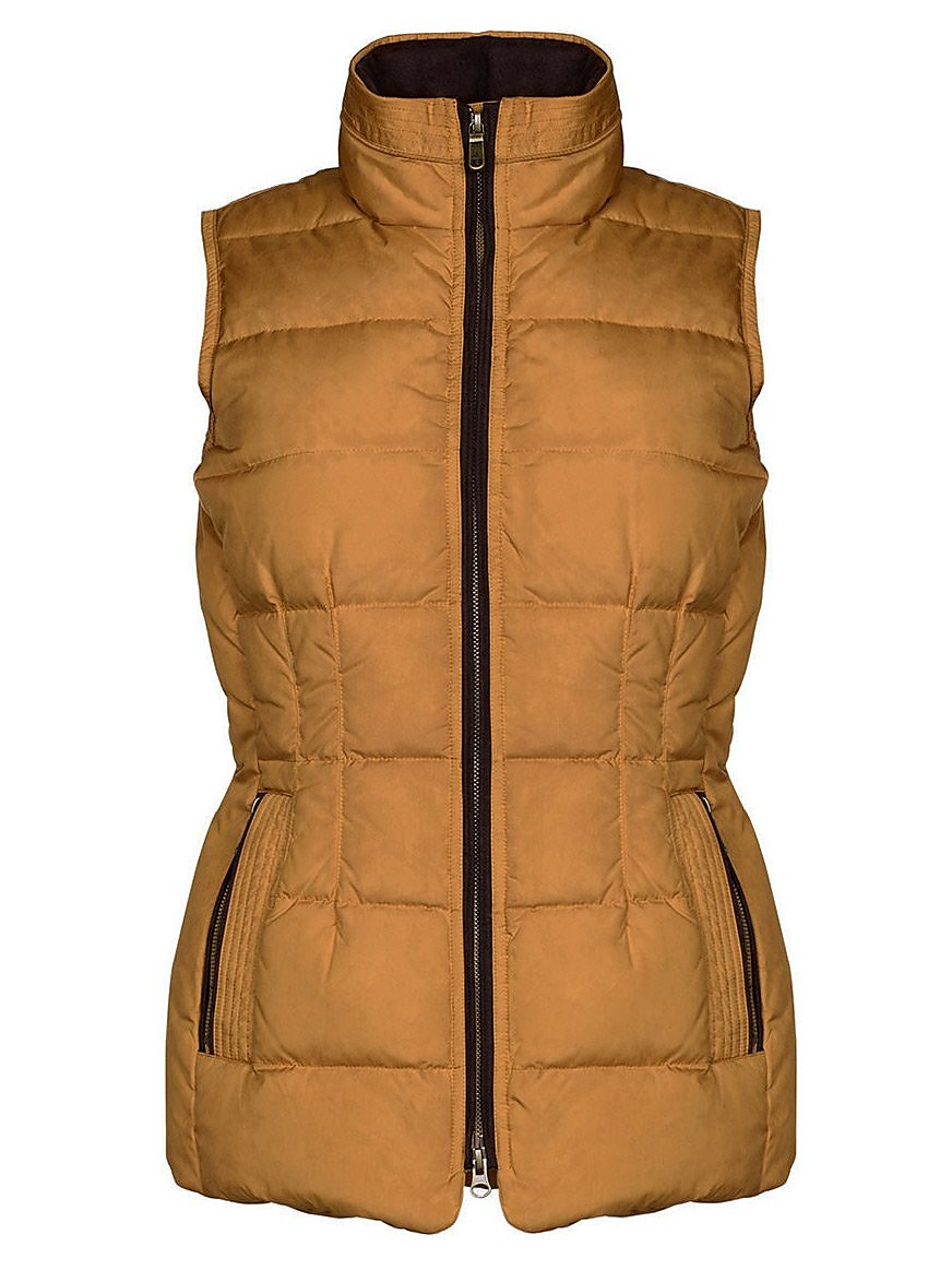 Dubarry Women's Spiddal Down Quilted Gilet - Mustard