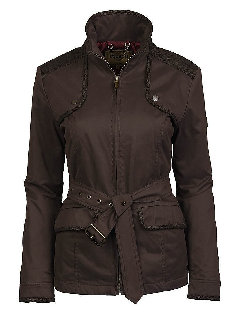 Dubarry Women's Enright Belted Jacket - Bourbon