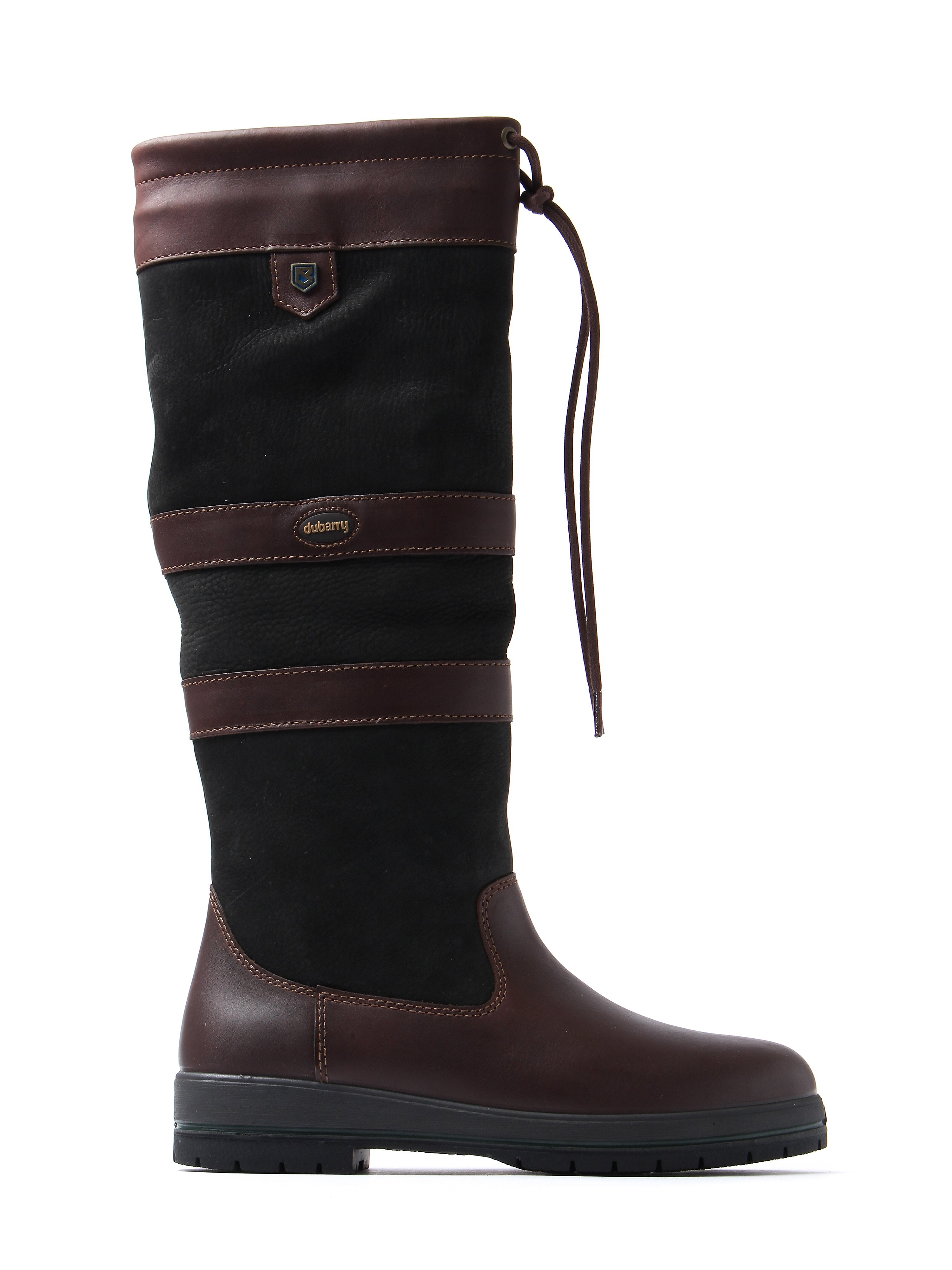 Dubarry Women's Galway Slim Fit Boots - Black & Brown Leather