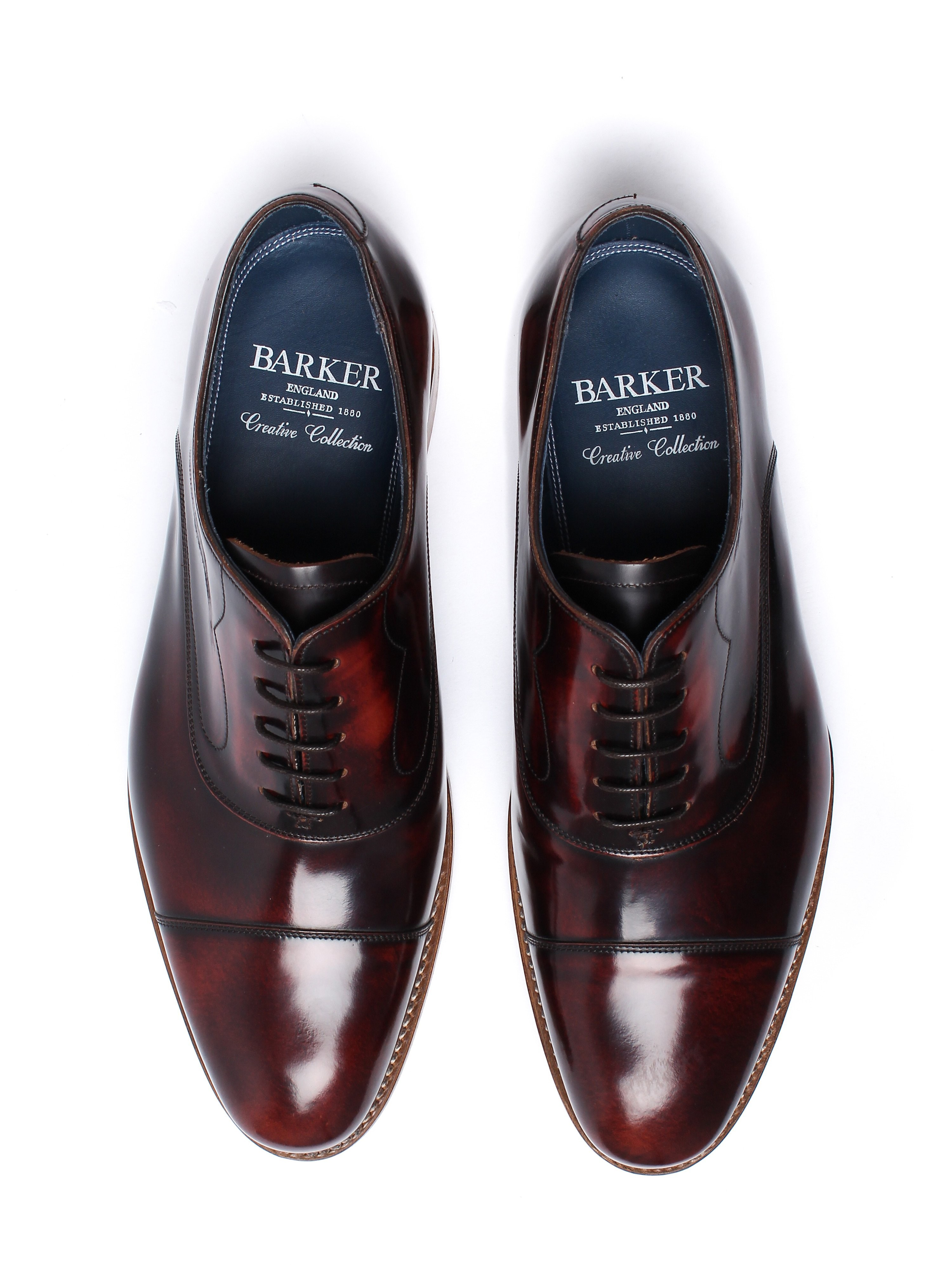 Barker Men's Hartley Hi Shine Derby Shoes – Brandy Leather