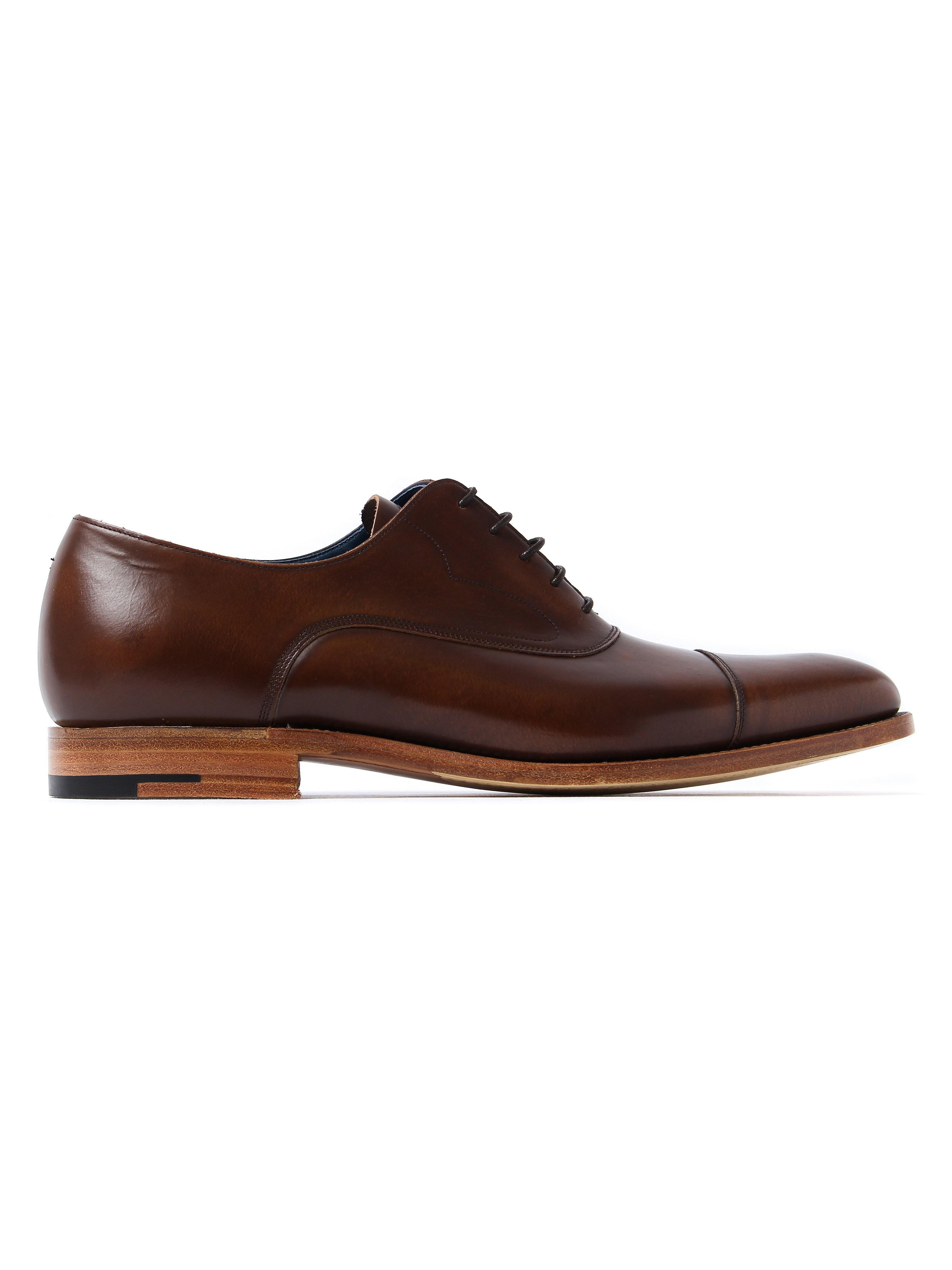Barker Men's Hartley Hi Shine Derby Shoes – Cedar Leather