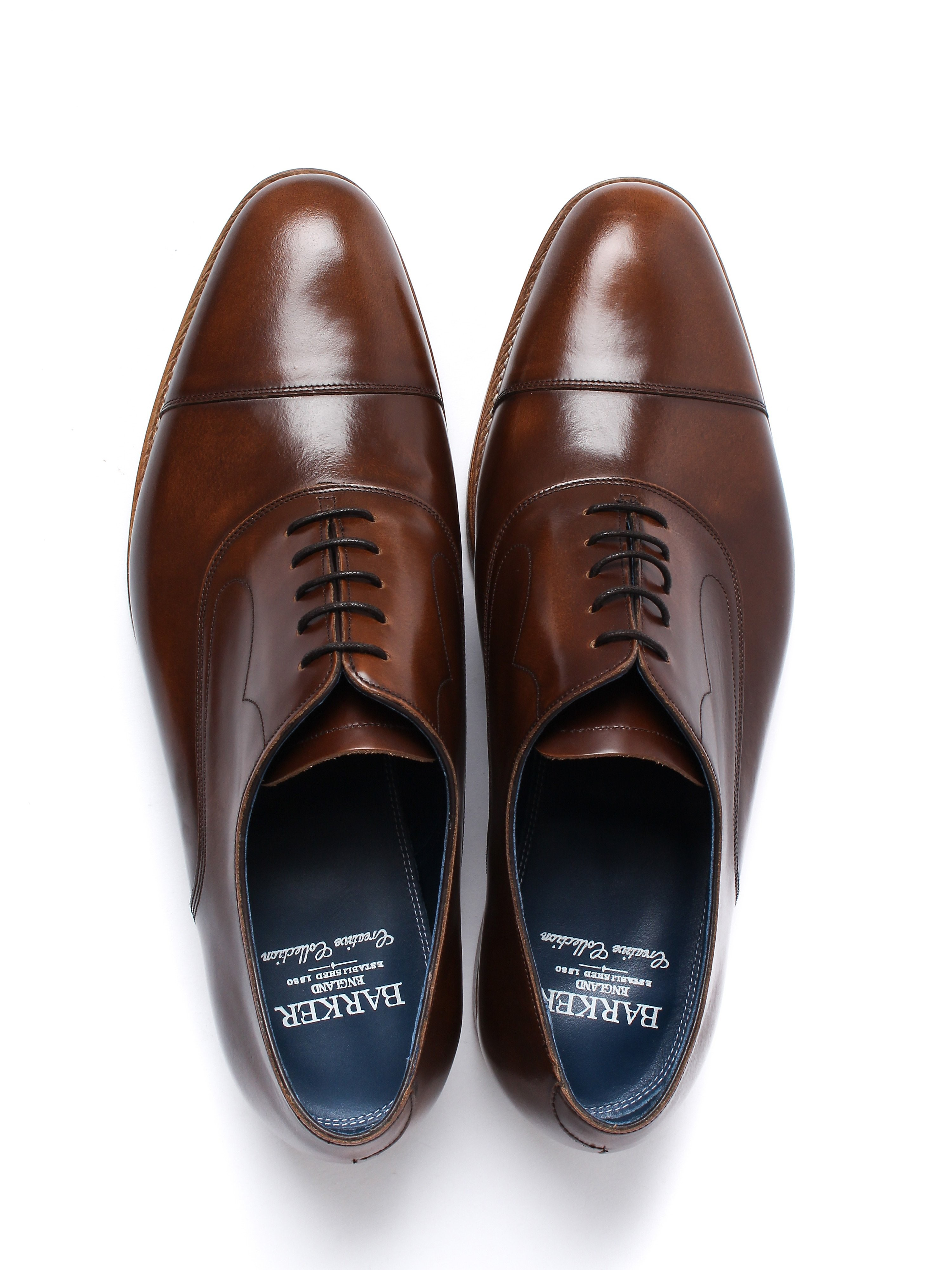 Barker Men's Hartley Hi Shine Derby Shoes – Cedar Leather