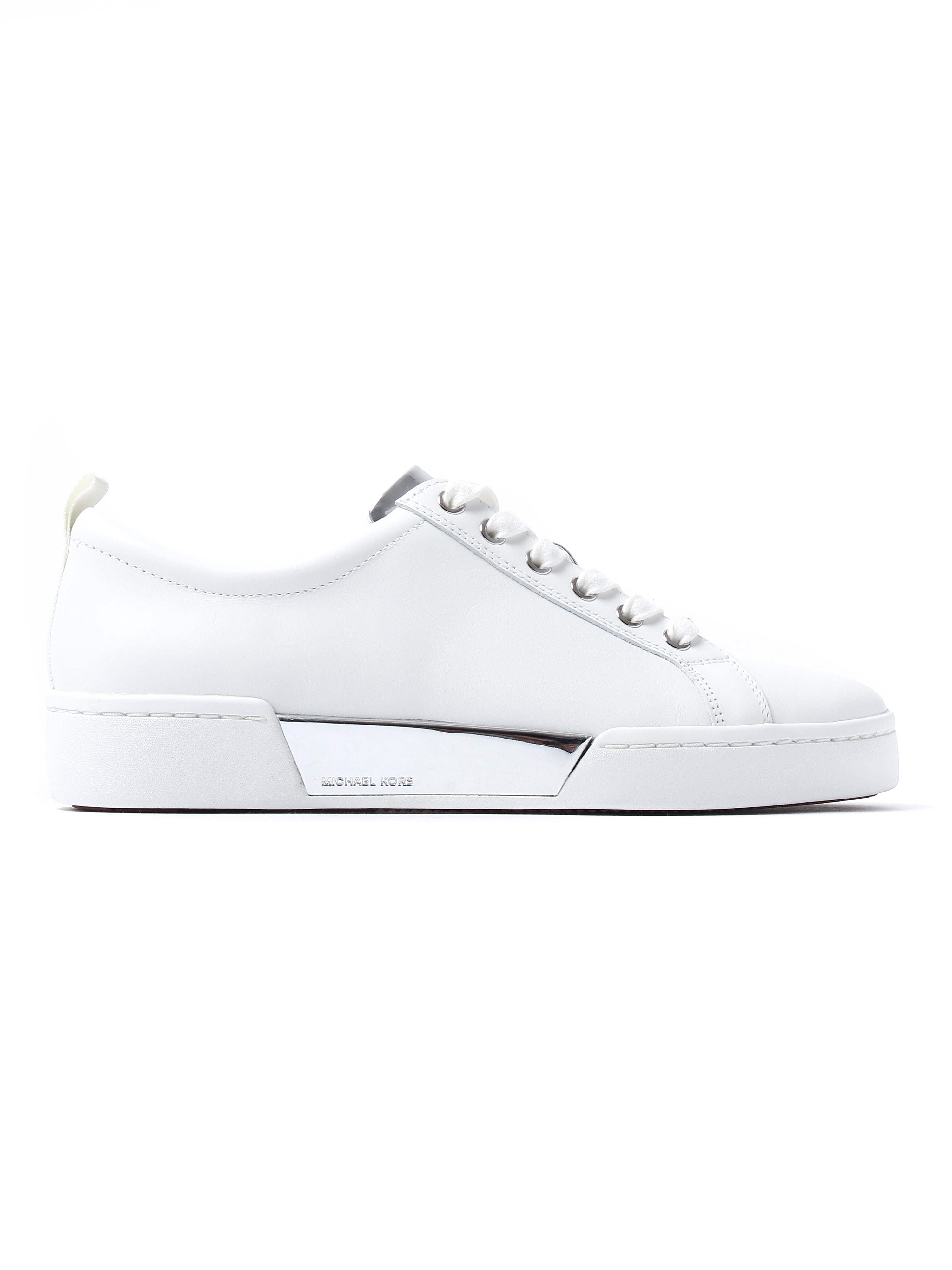MICHAEL Michael Kors Women's Brenden Low Top Trainers - Silver Leather
