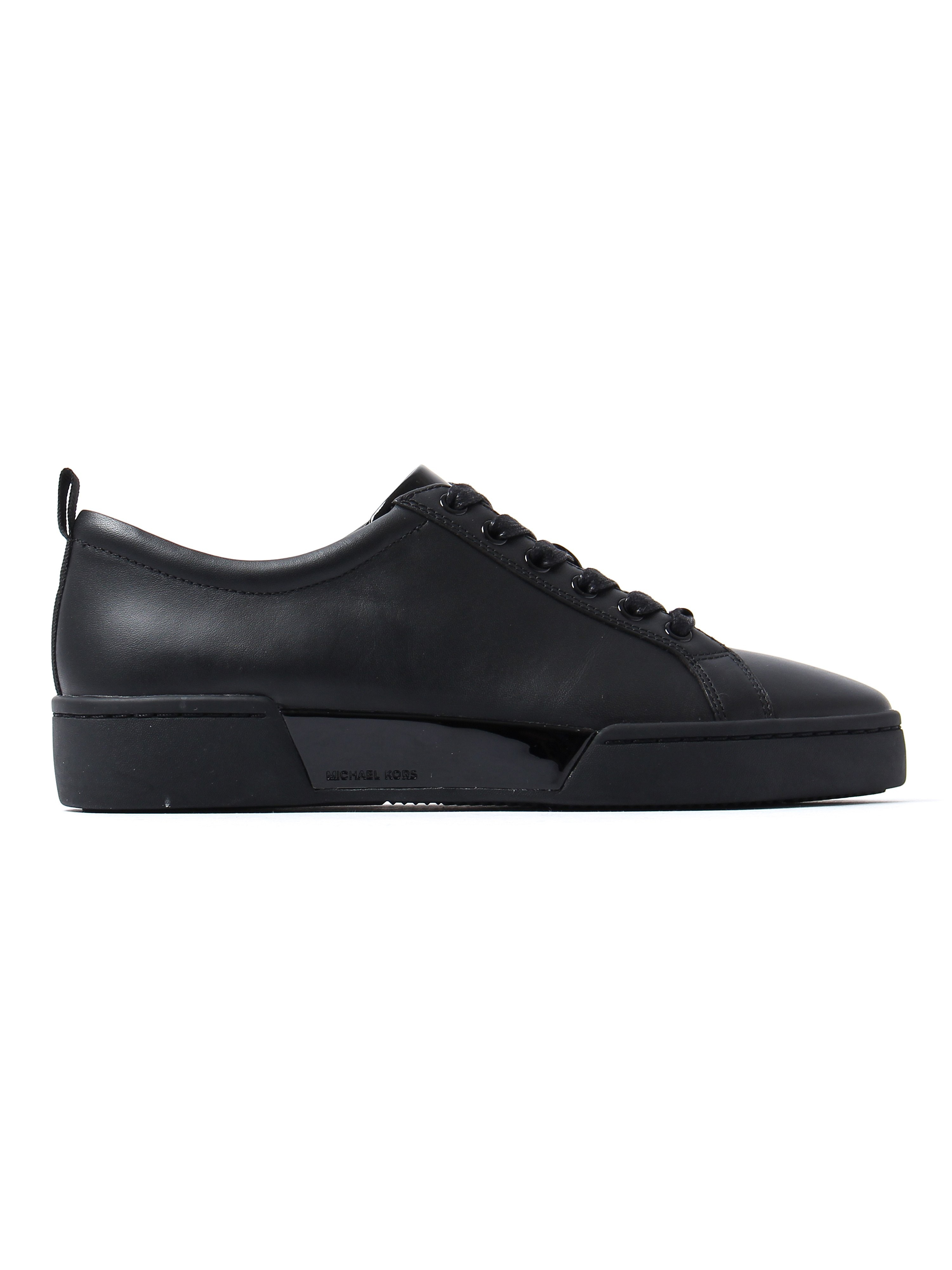 MICHAEL Michael Kors Women's Brenden Low Top Trainers - Black Leather