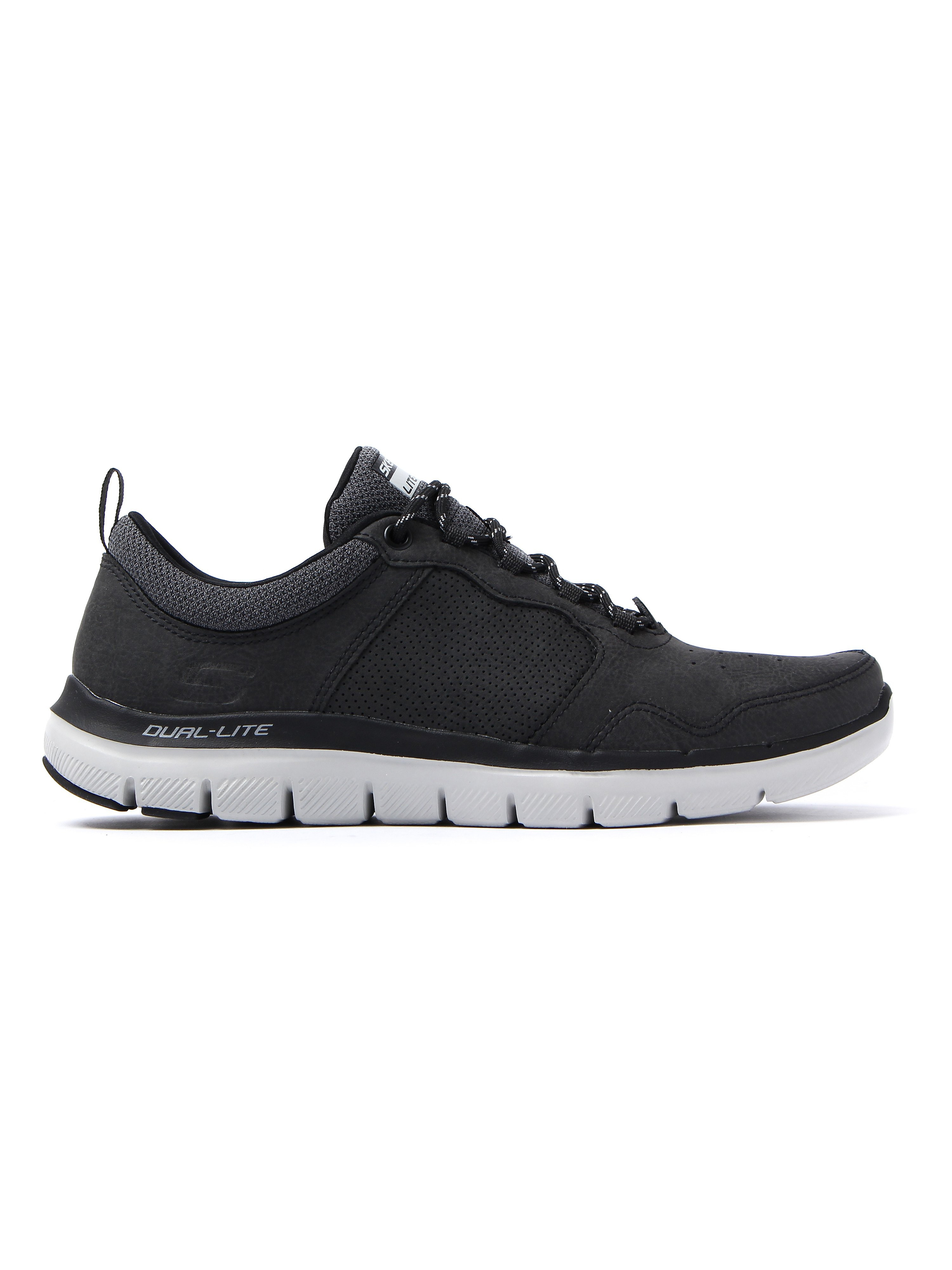 Skechers Men's Flex Advantage 2.0 Dali Trainers - Black Leather