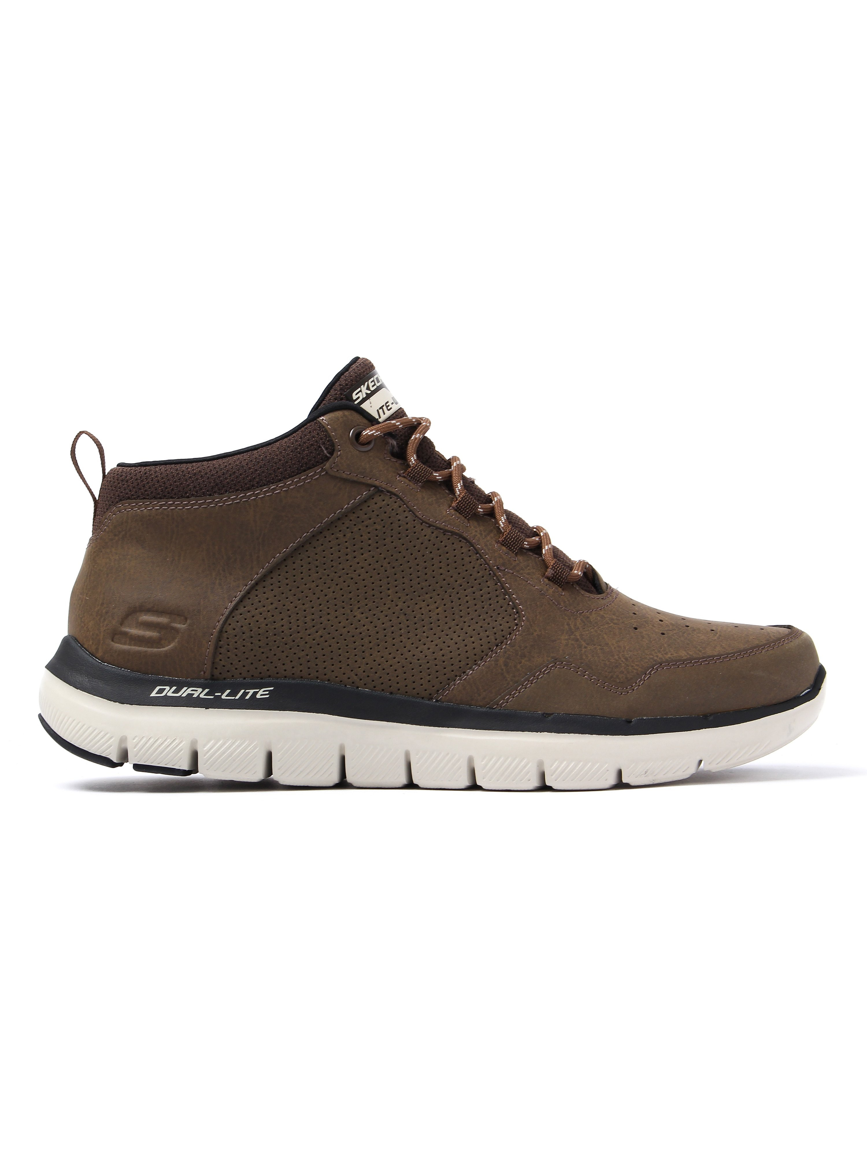 Skechers Men's Flex Advantage 2.0 High Key Trainers - Chocolate Leather