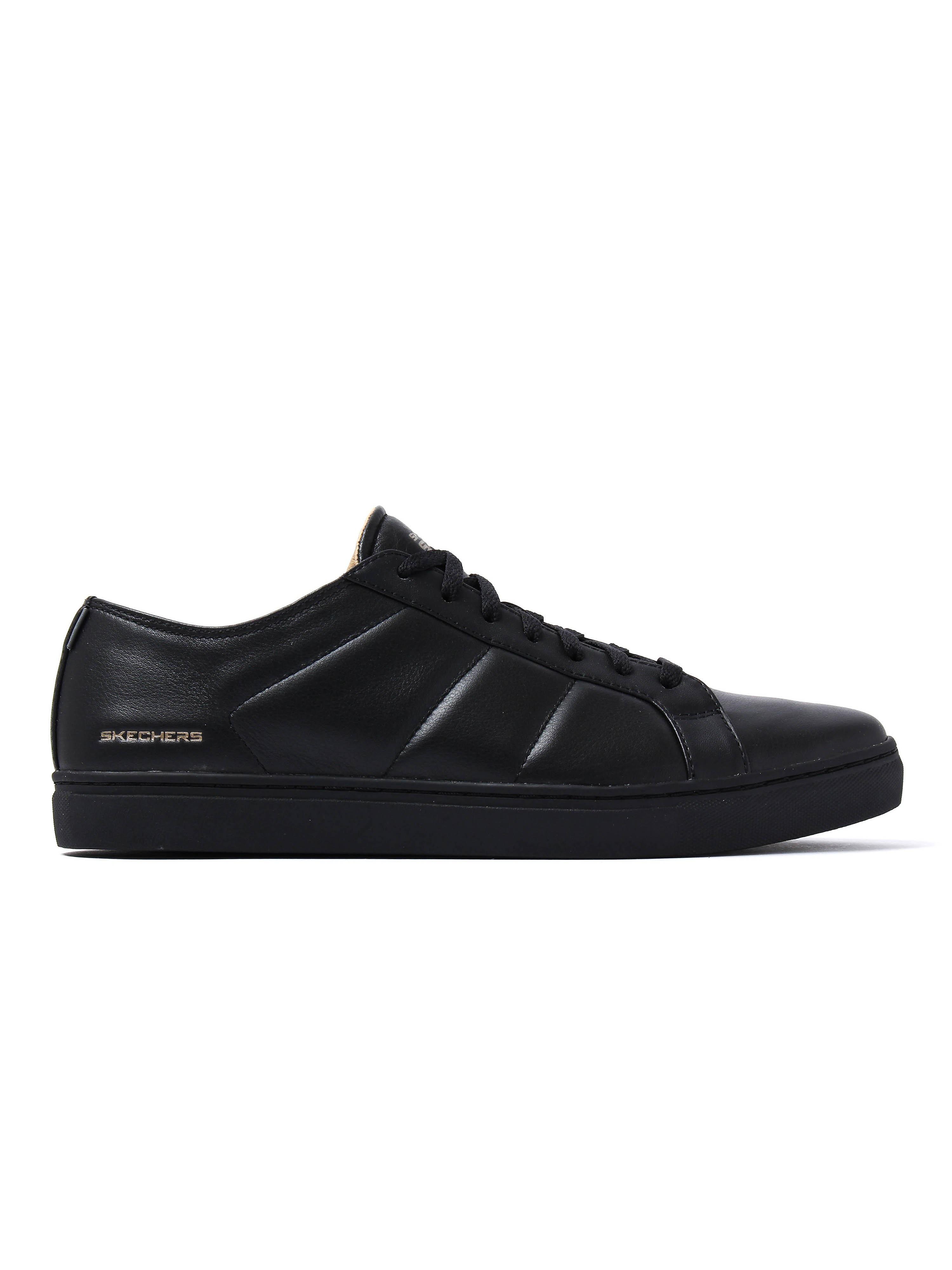 Skechers Men's Venice T Trainers - Black Leather