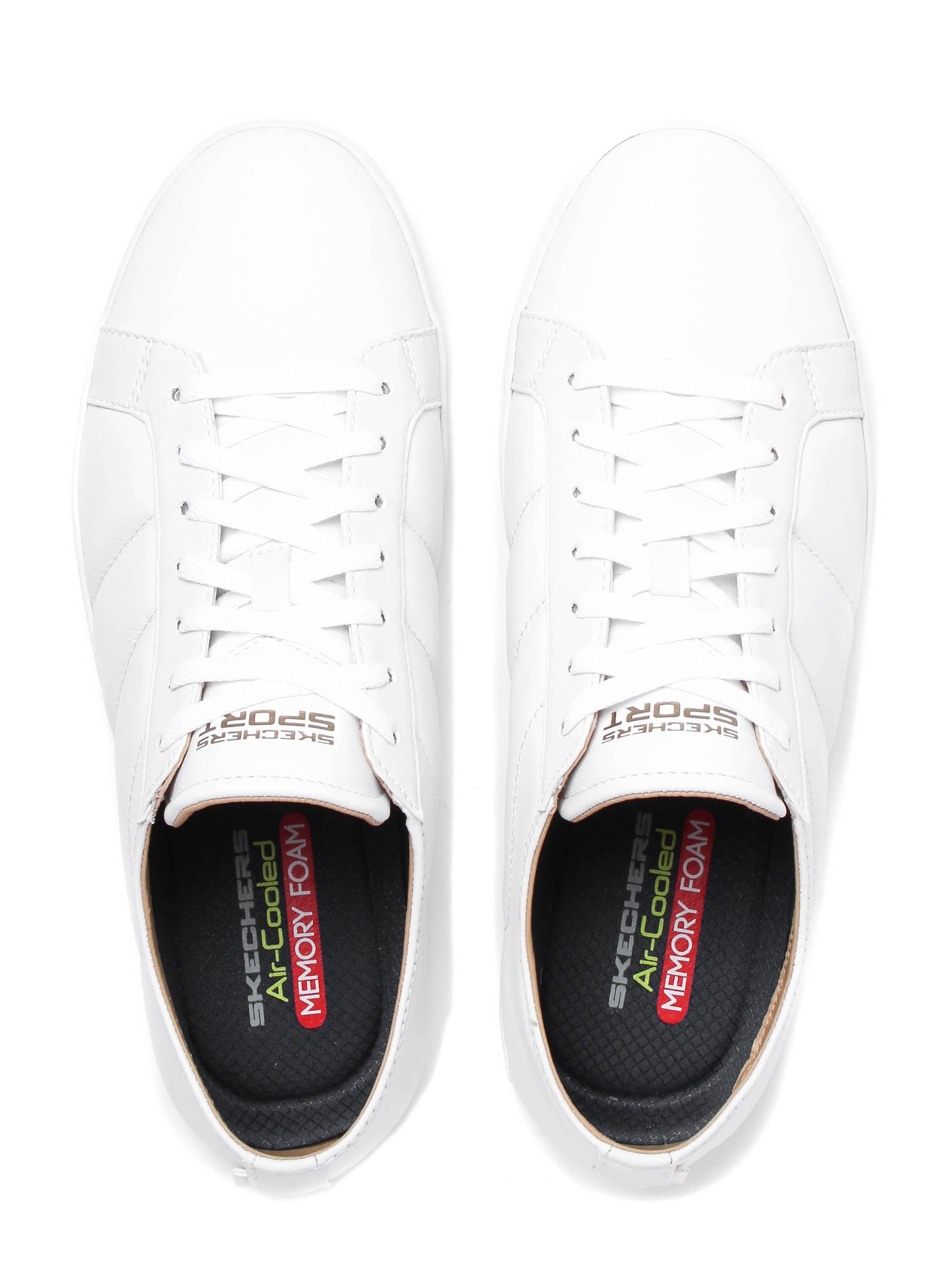 Skechers Men's Venice T Trainers - White Leather