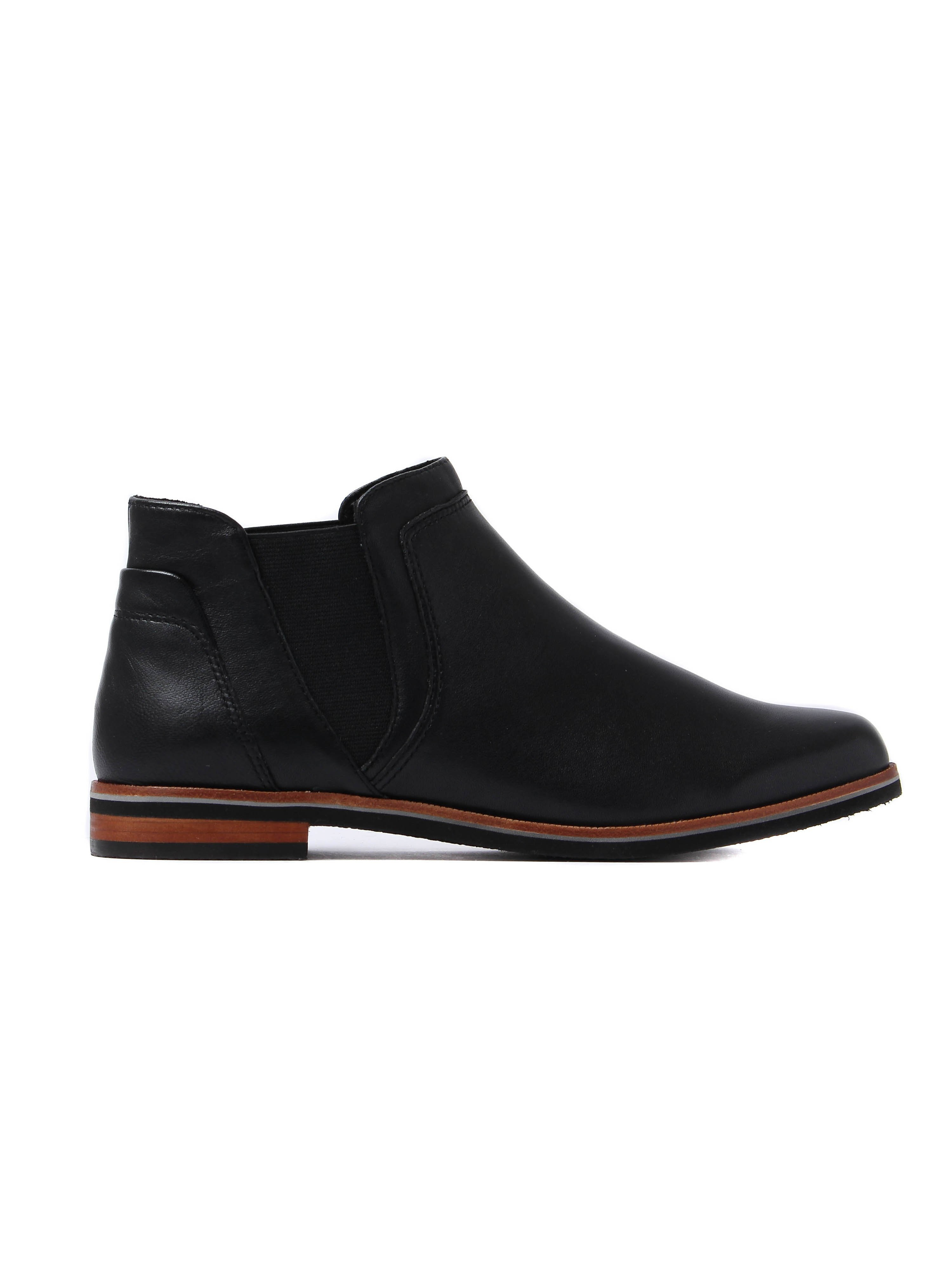 Caprice Women's Chelsea Boots - Black Leather