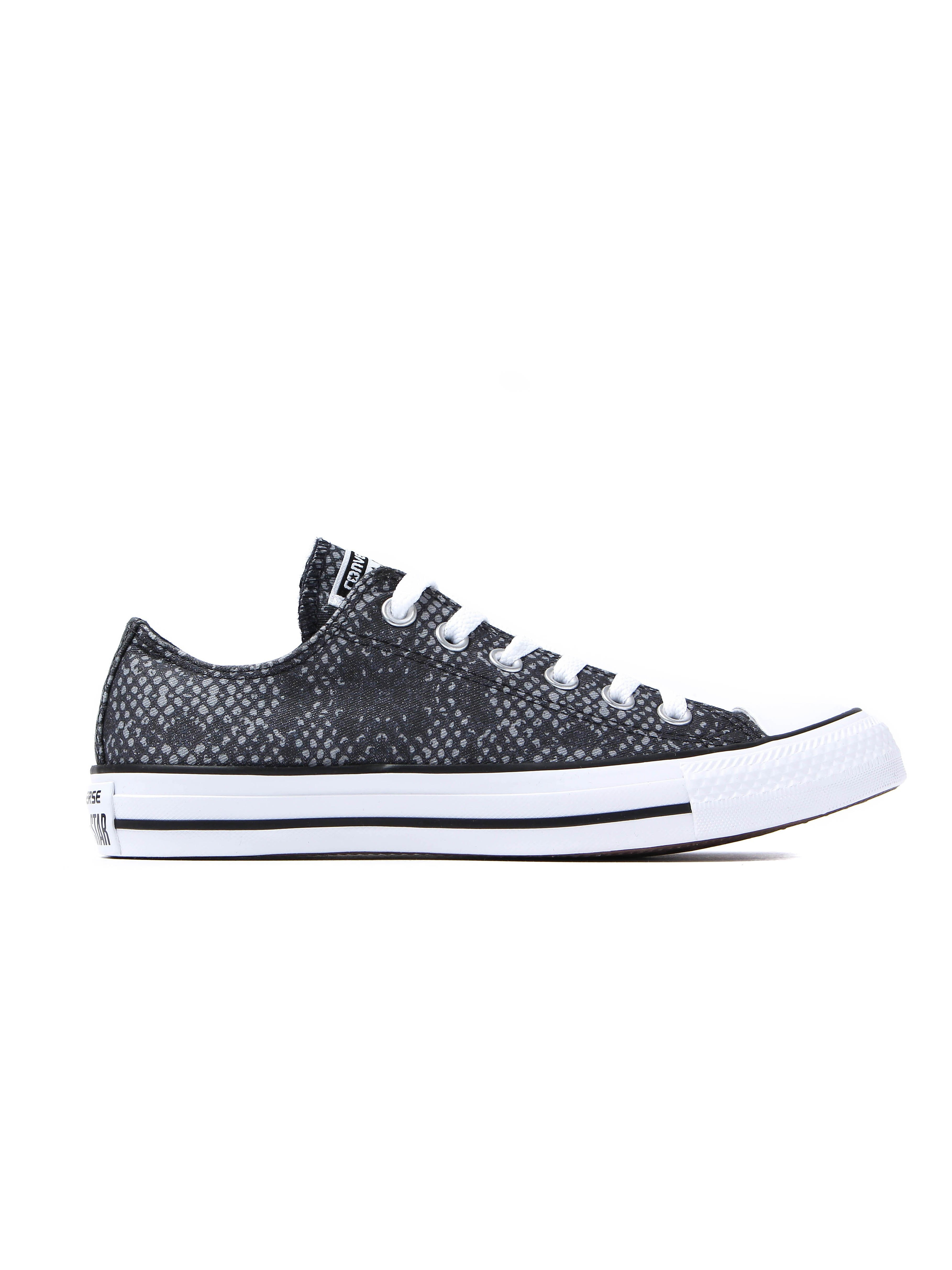 Converse Women's Chuck Taylor All Star OX Trainers – Black Snake
