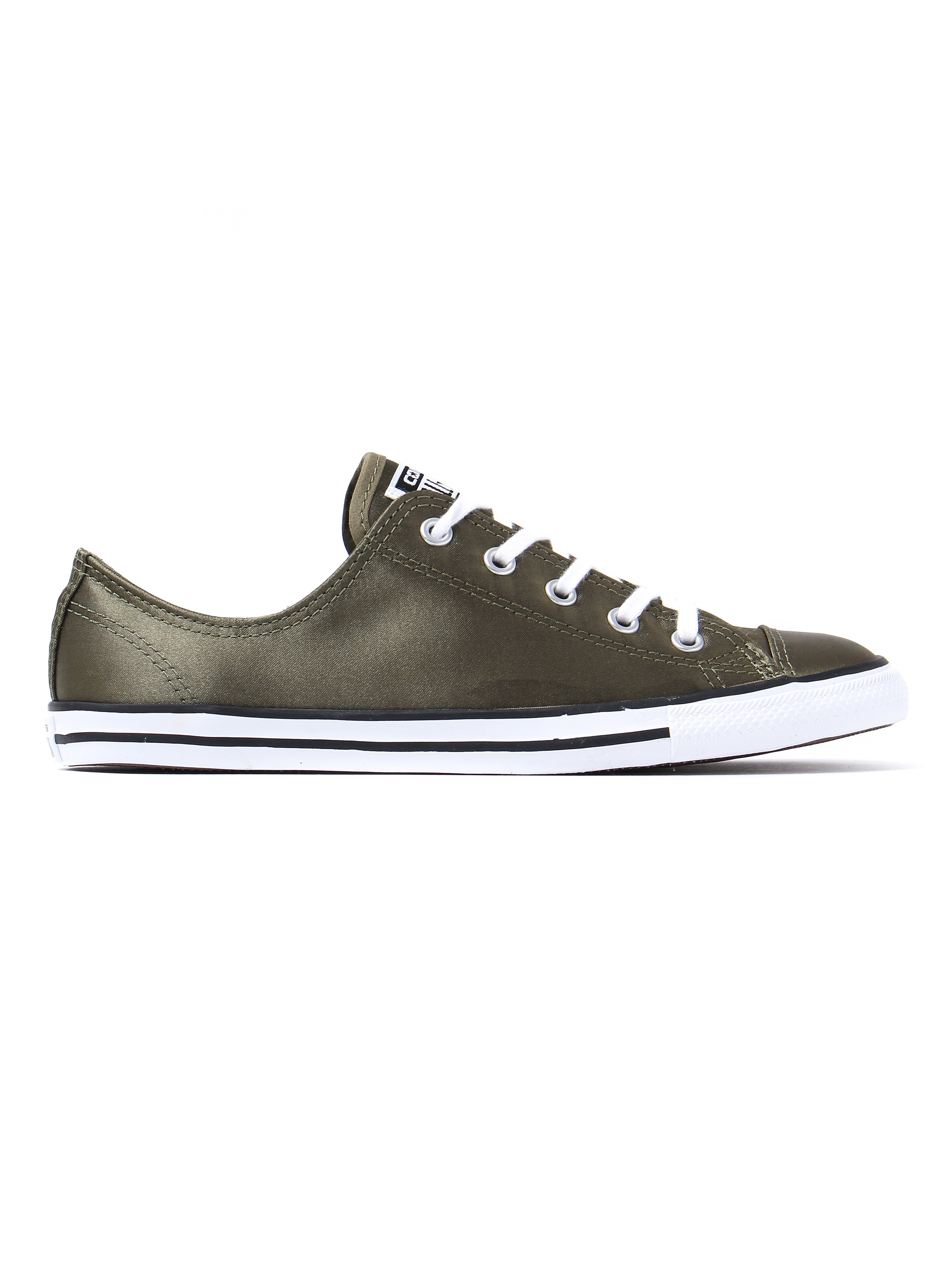 Converse Women's All Star Dainty OX Canvas Trainers - Olive