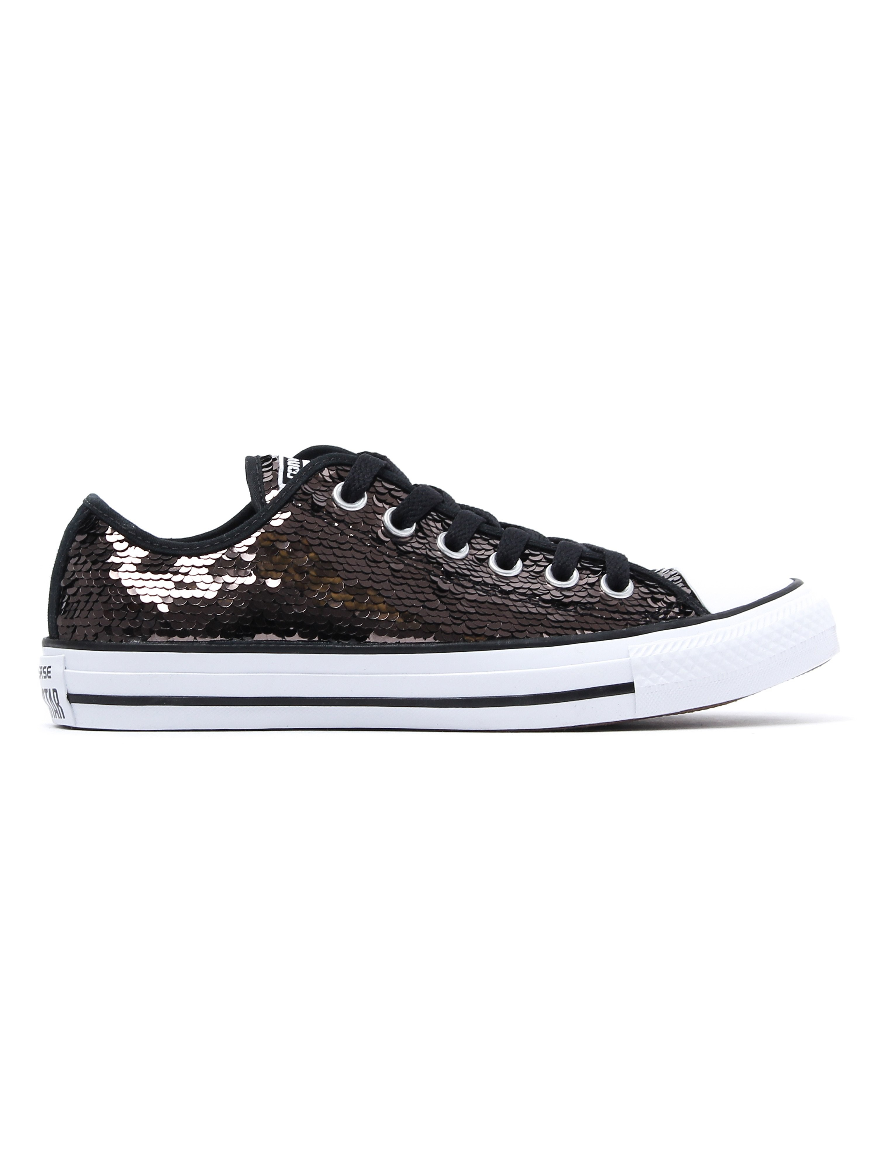 Converse Women's Chuck Taylor All Star OX Trainers - Gunmetal Sequin