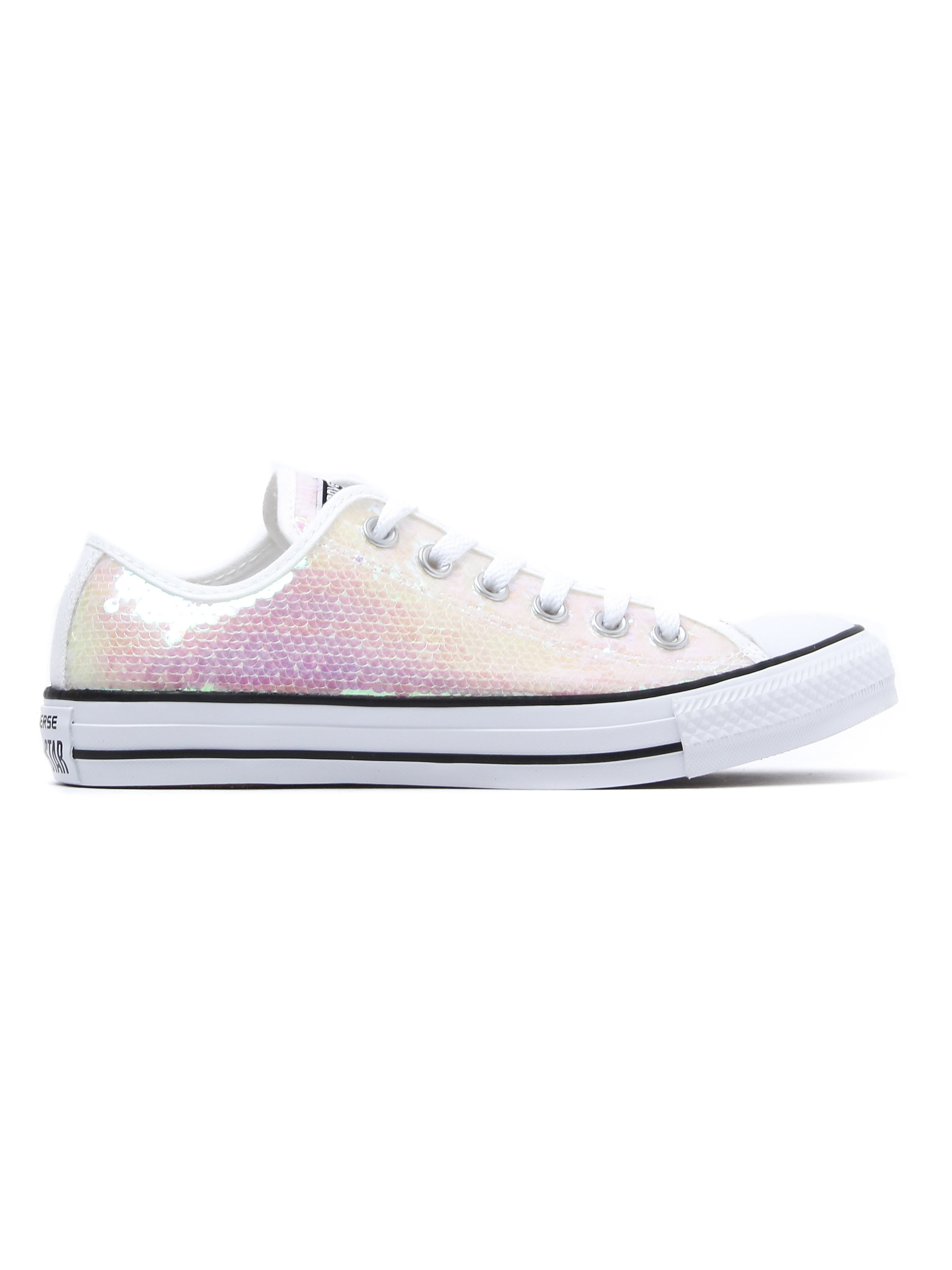 Converse Women's Chuck Taylor All Star OX Trainers - White Sequin