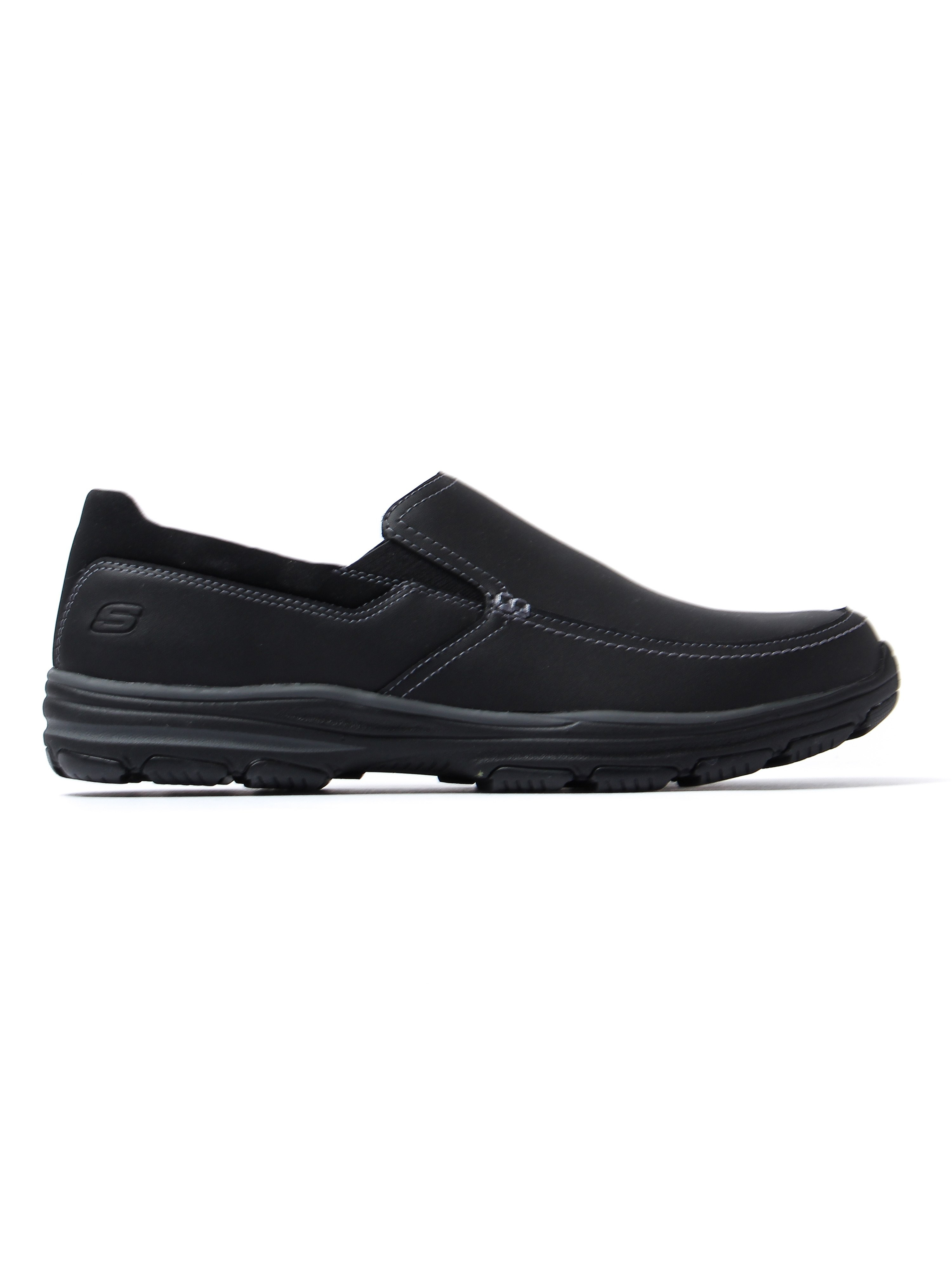 Skechers Men's Garton Venco Loafers - Black Leather