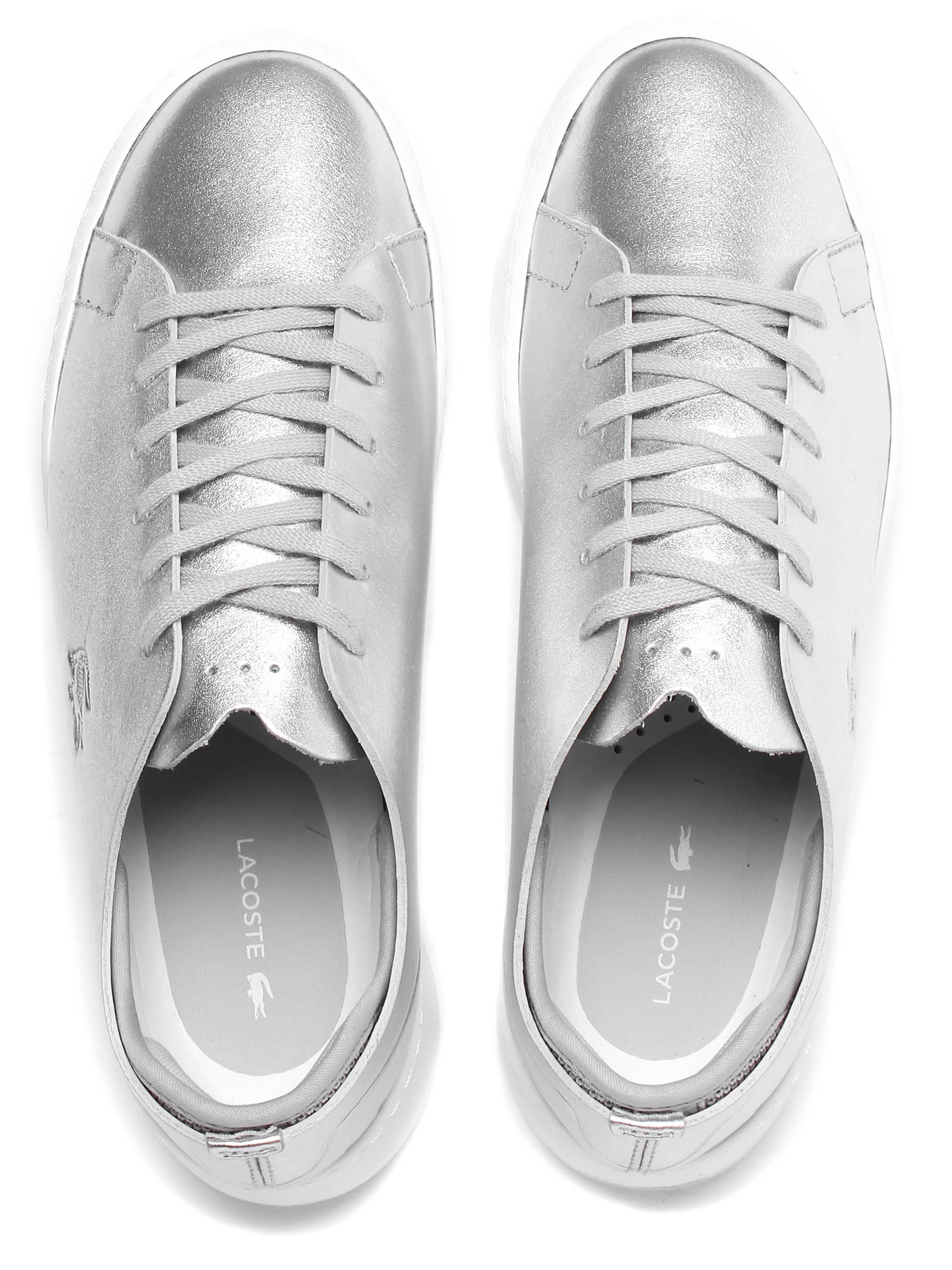 Lacoste Women's Eyyla 317 Trainers - Silver Leather
