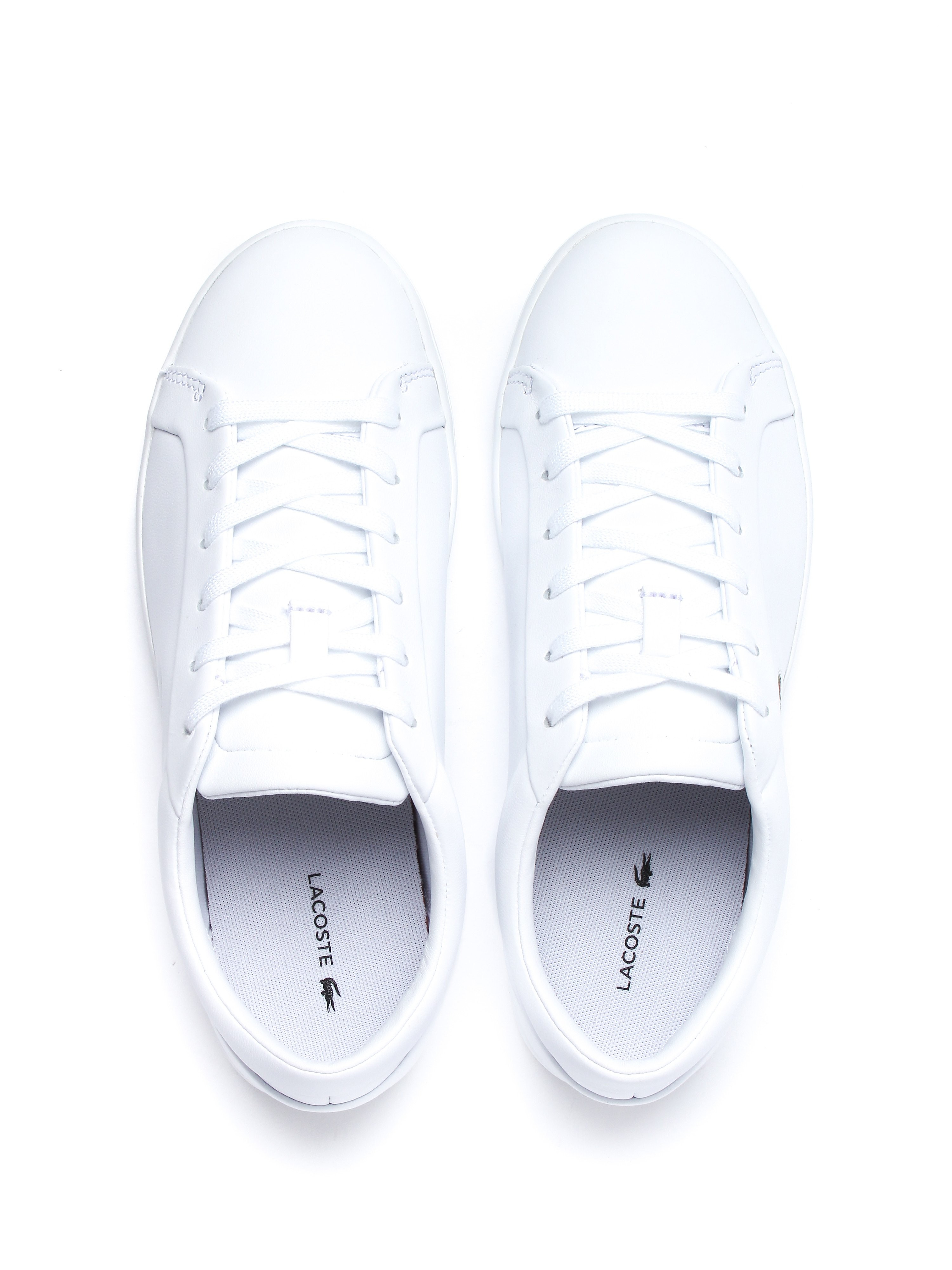 Lacoste Women's Straightset Lace 317 3 Trainers - White Leather