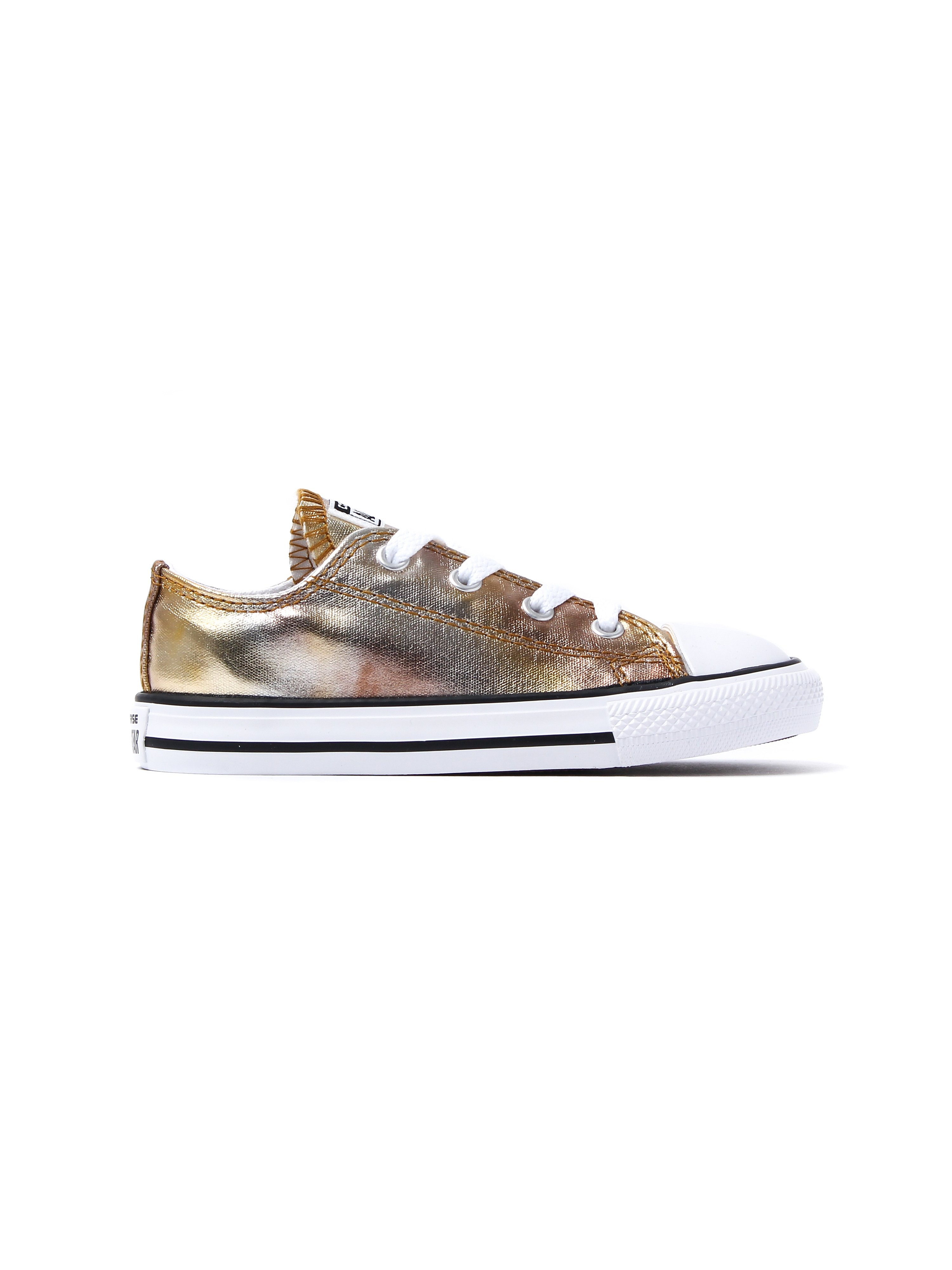 Converse Infants Chuck Taylor All Star OX Trainers - Silver Gold
