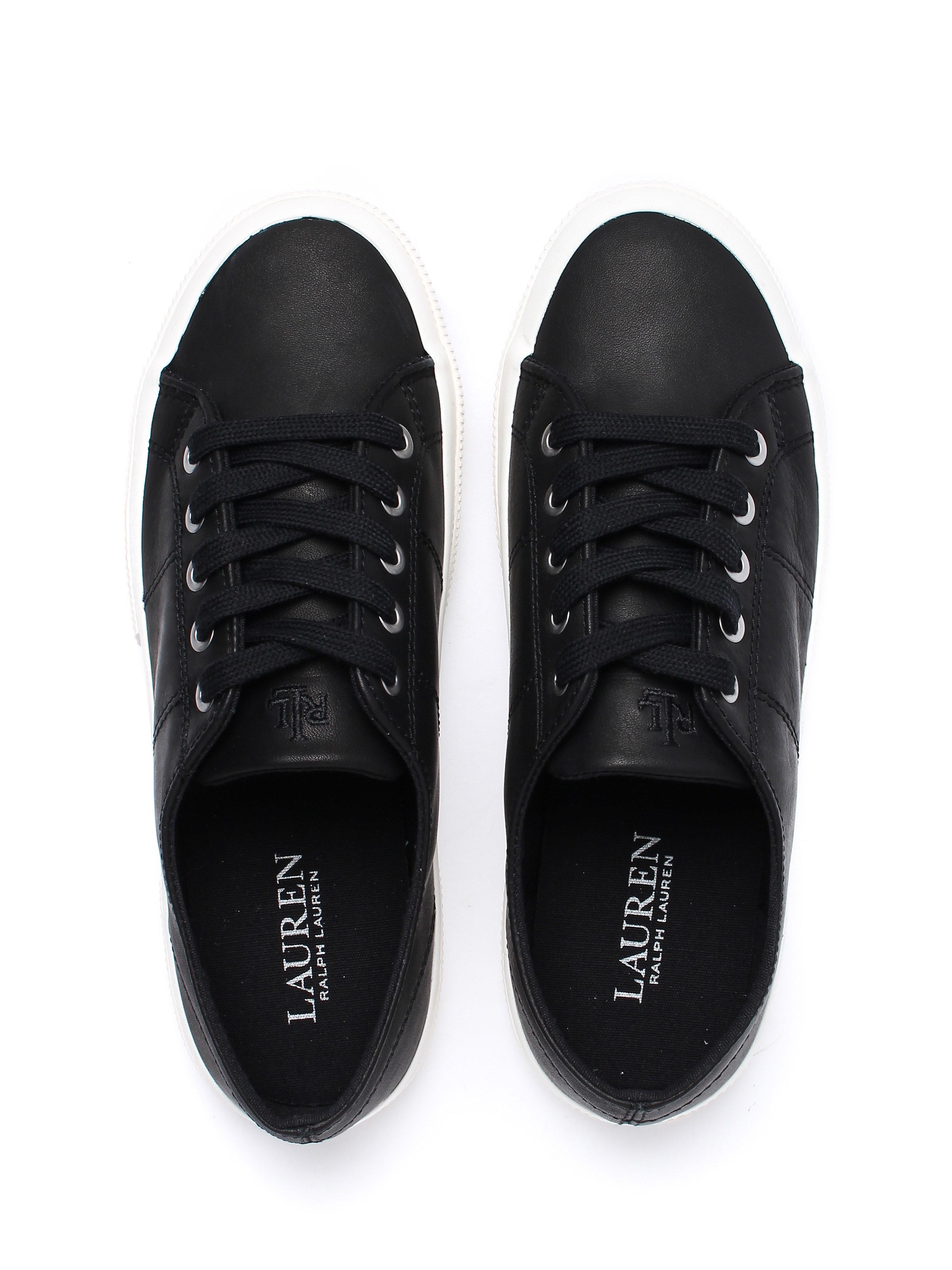 Lauren Ralph Lauren Women's Jolie Trainers - Black Leather