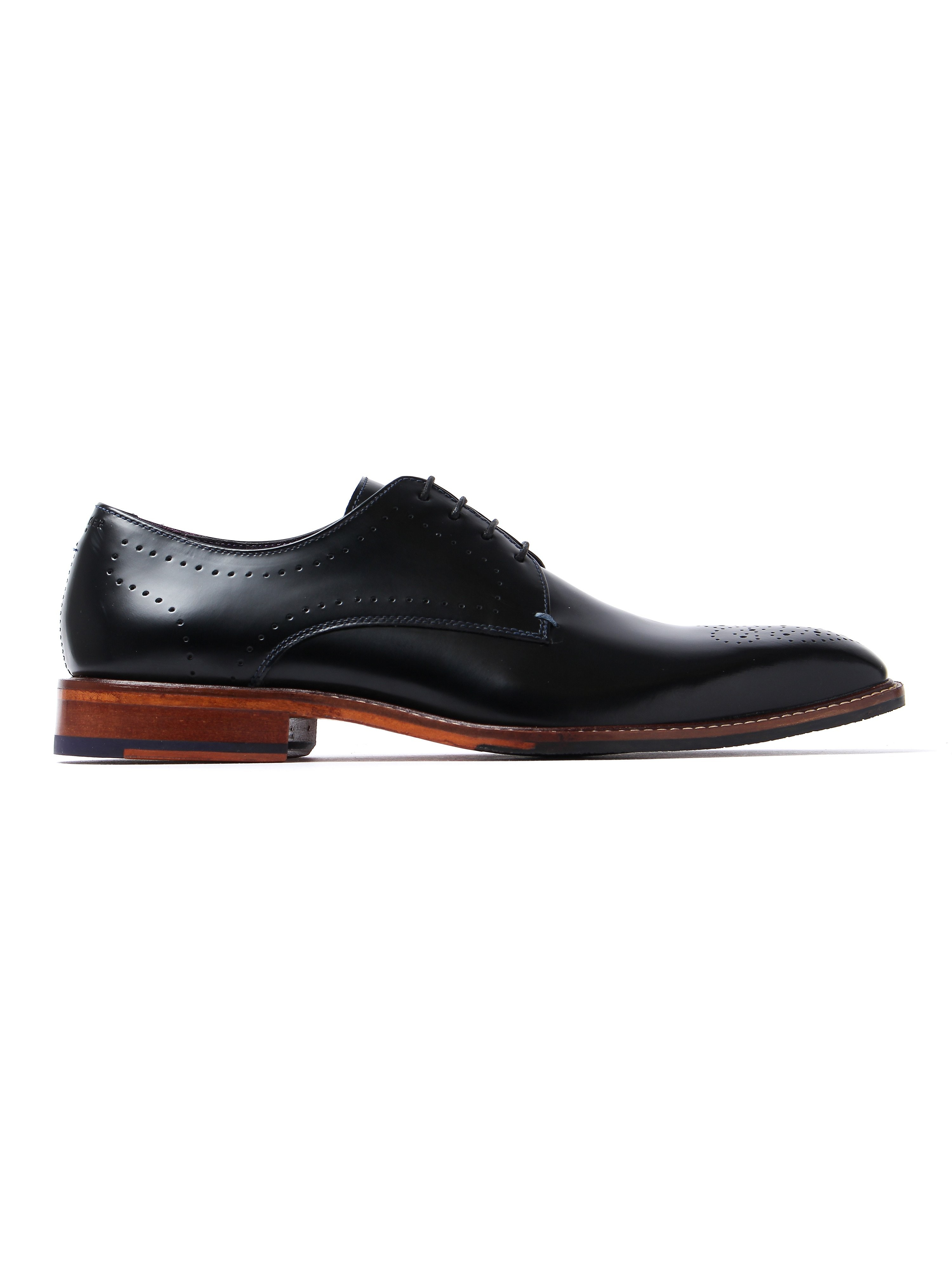 Ted Baker Men's Marar High Shine Derby Shoes - Black Leather