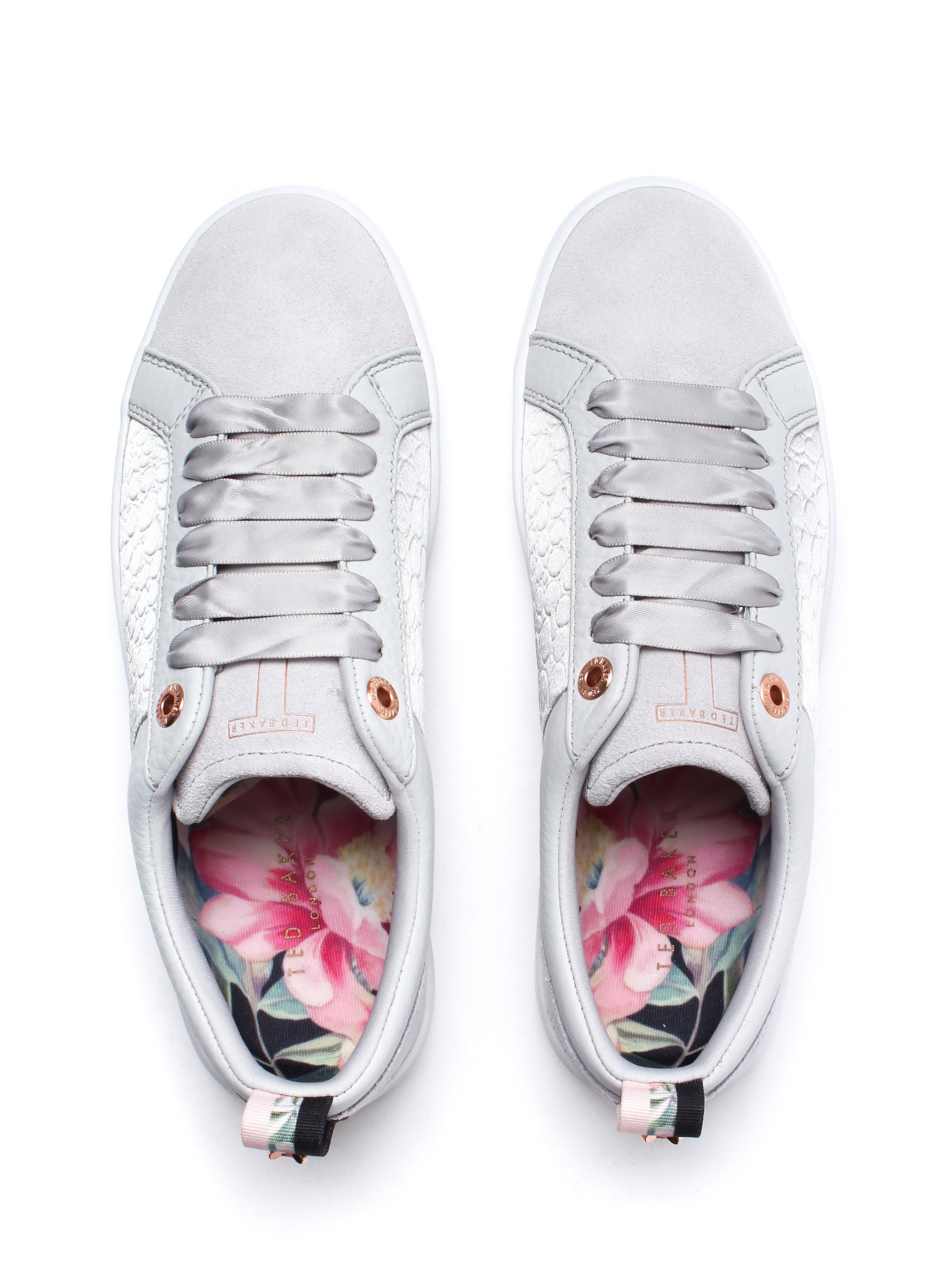 Ted Baker Women's Kulei Trainers - Light Grey Leather