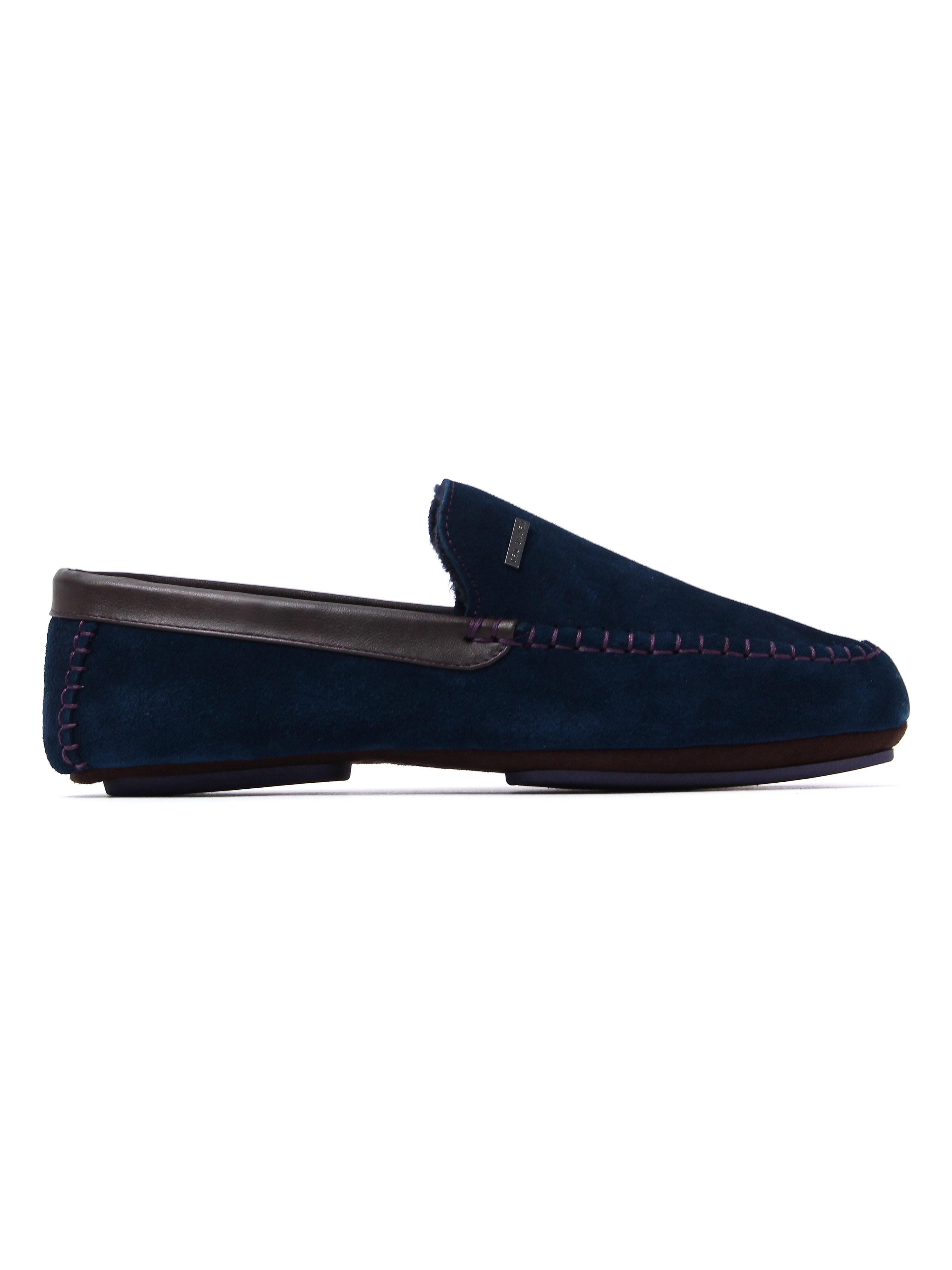 Ted Baker Men's Moriss 2 Slippers - Dark Blue Suede