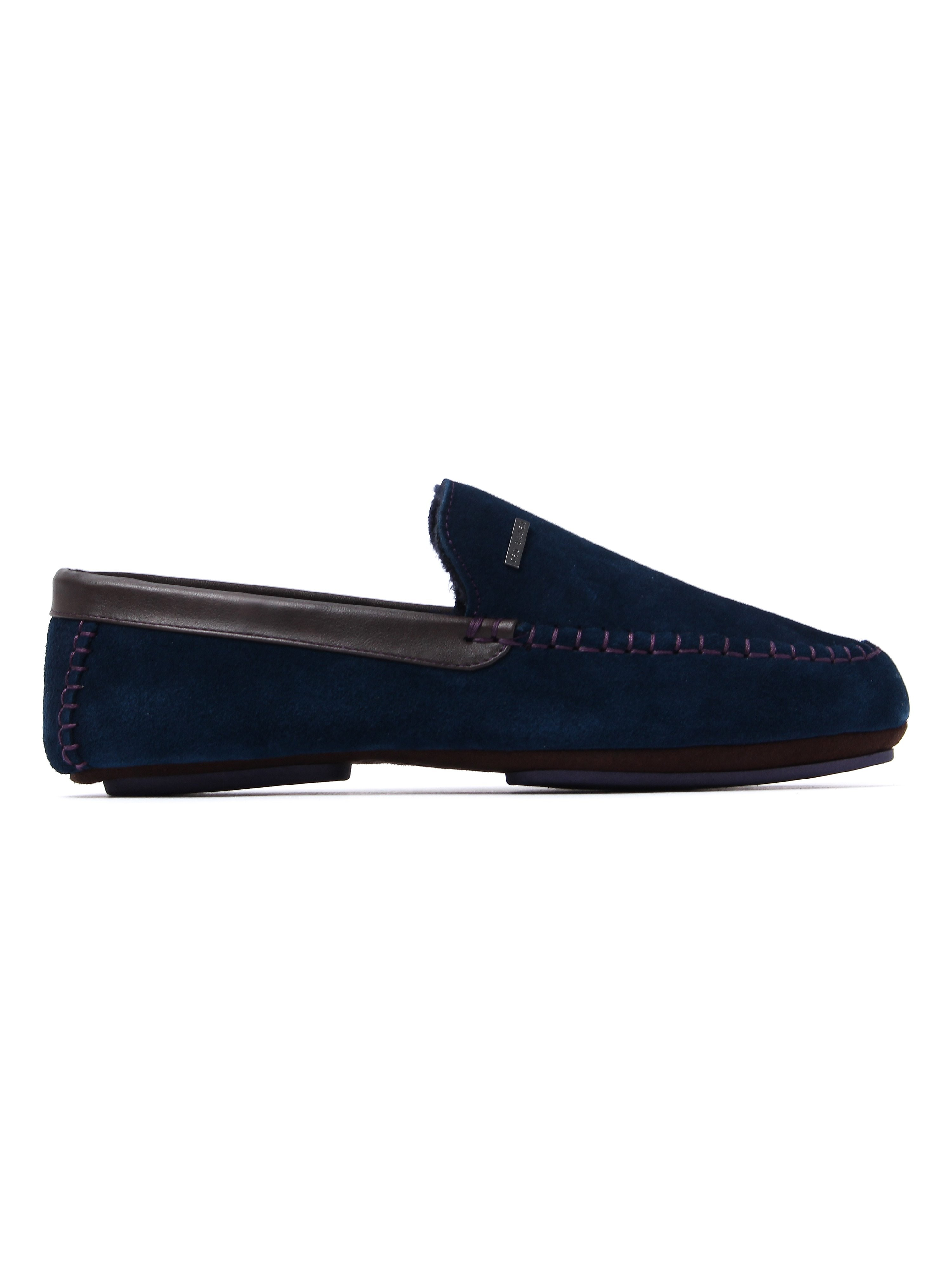 Ted Baker Men's Moriss 2 Slippers - Dark Blue Suede