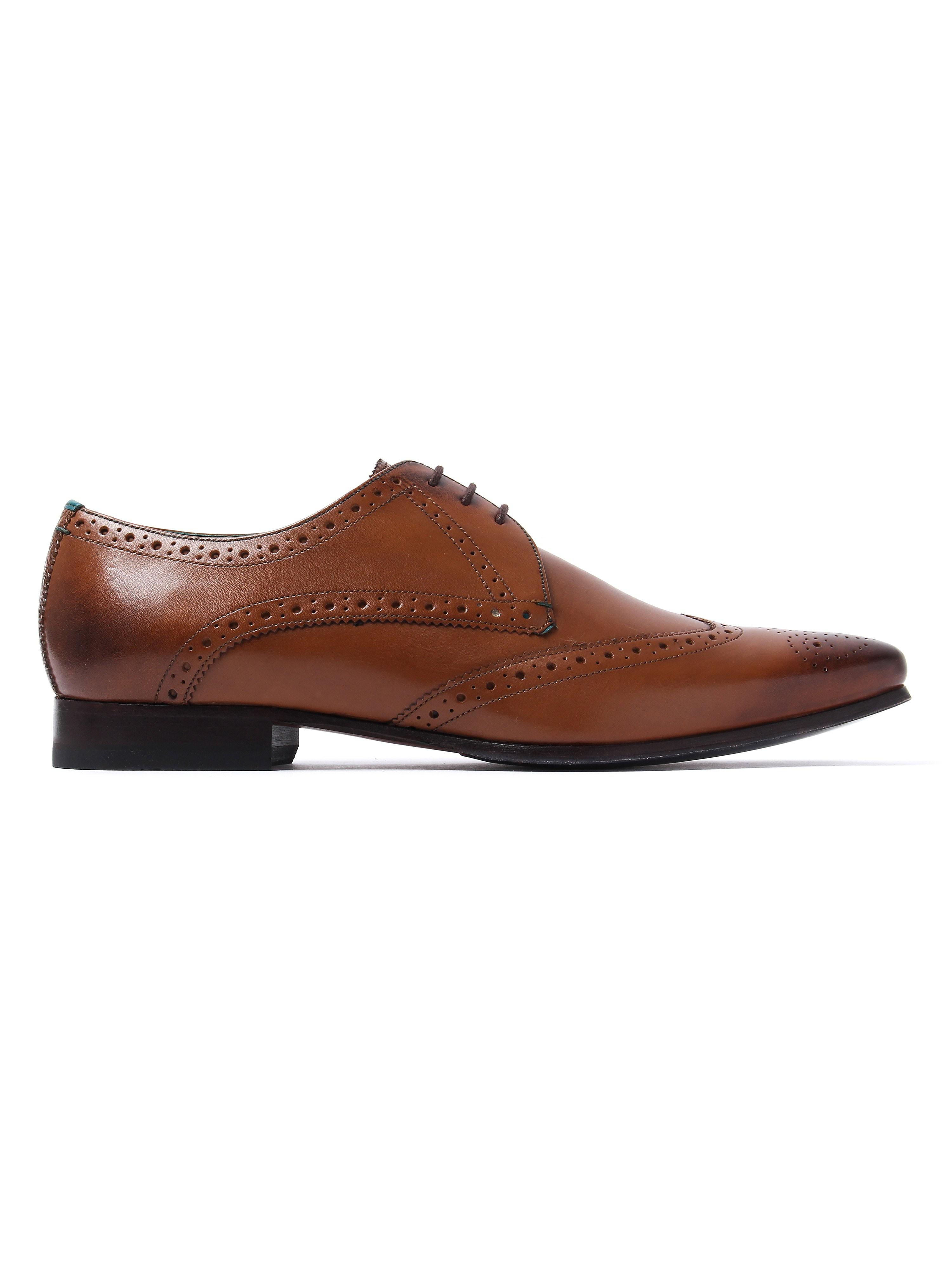 Ted Baker Men's Albbin Derby Shoes - Tan Leather