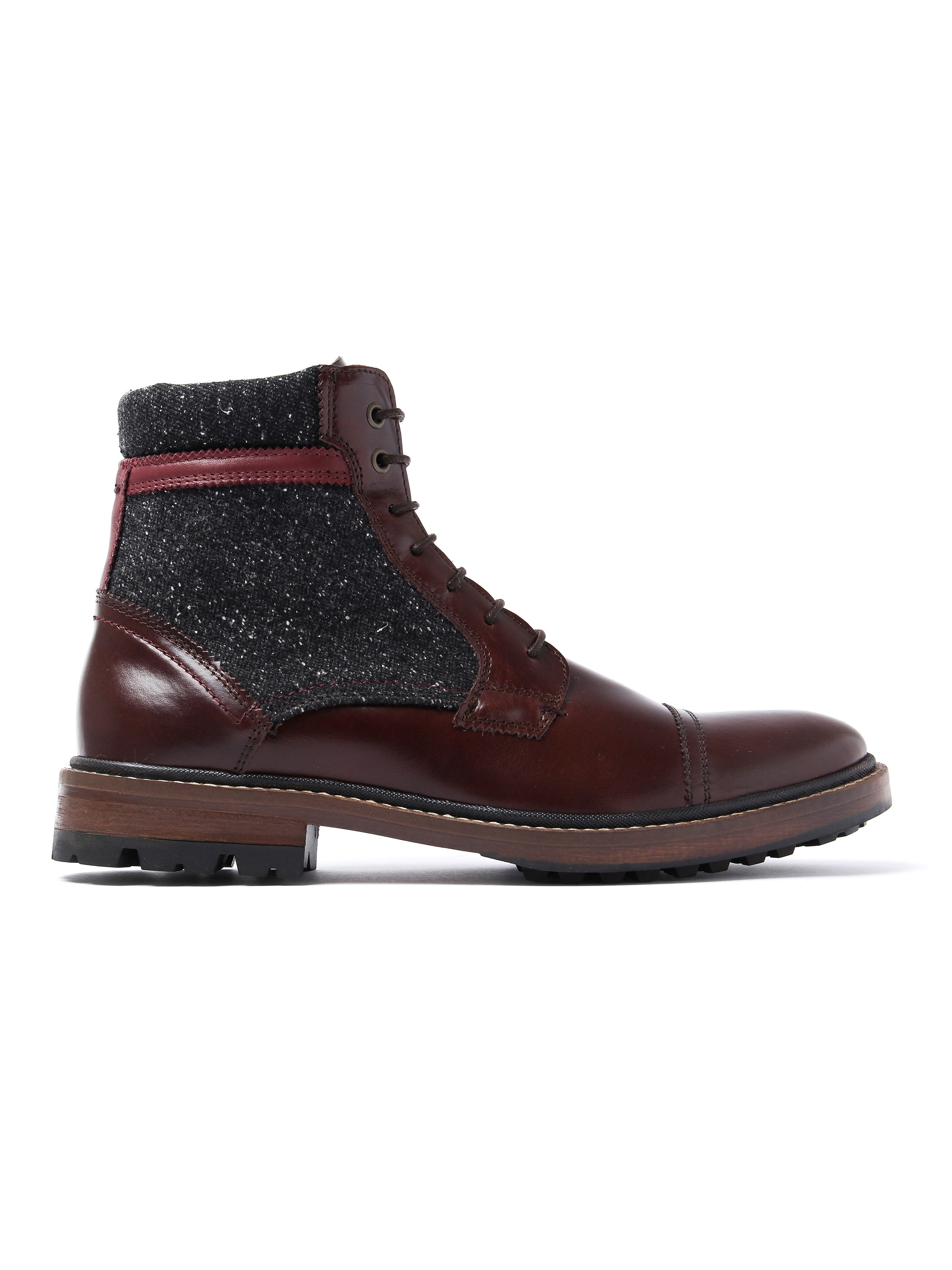 Ted Baker Men's Ruulen Ankle Boots - Brown Leather & Textile
