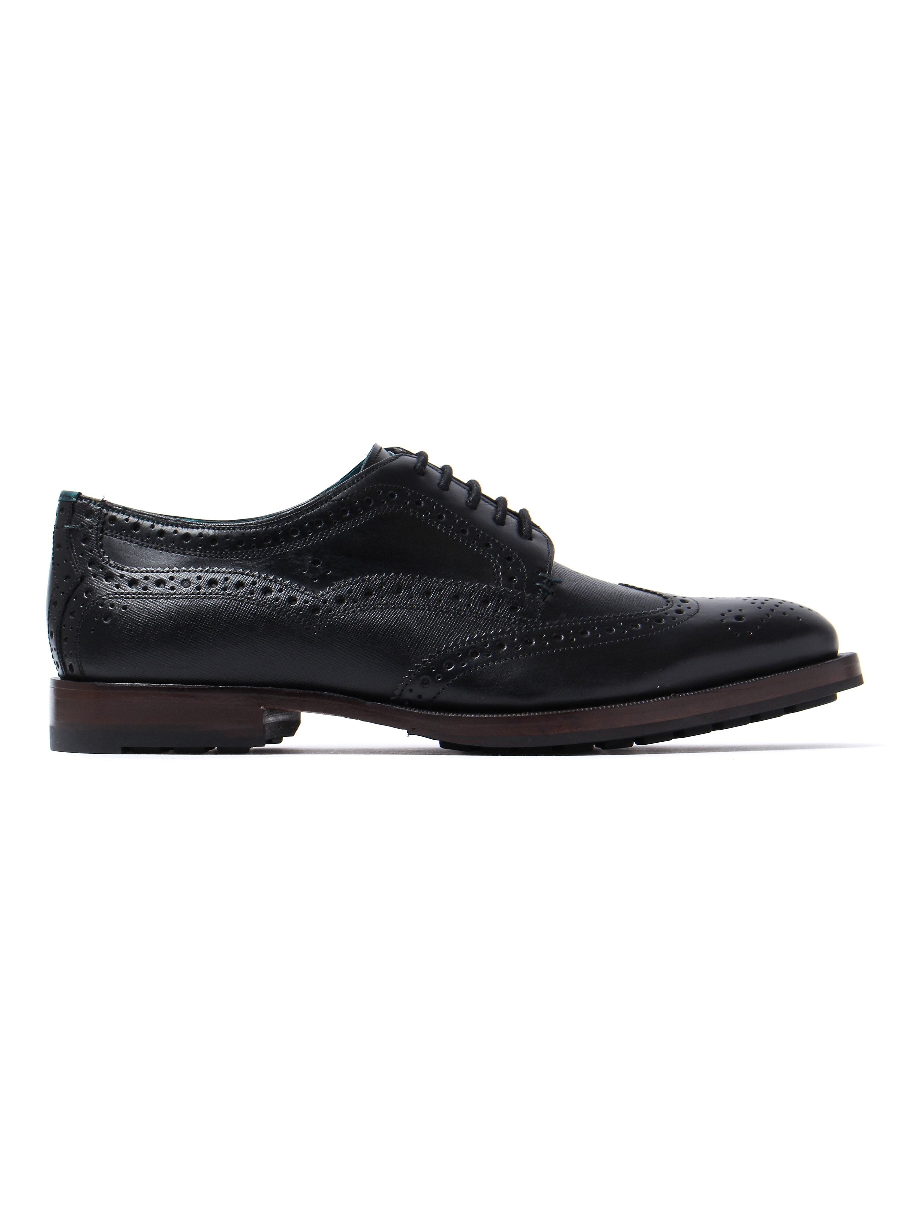 Ted Baker Men's Senape Oxford Brogues - Black Leather