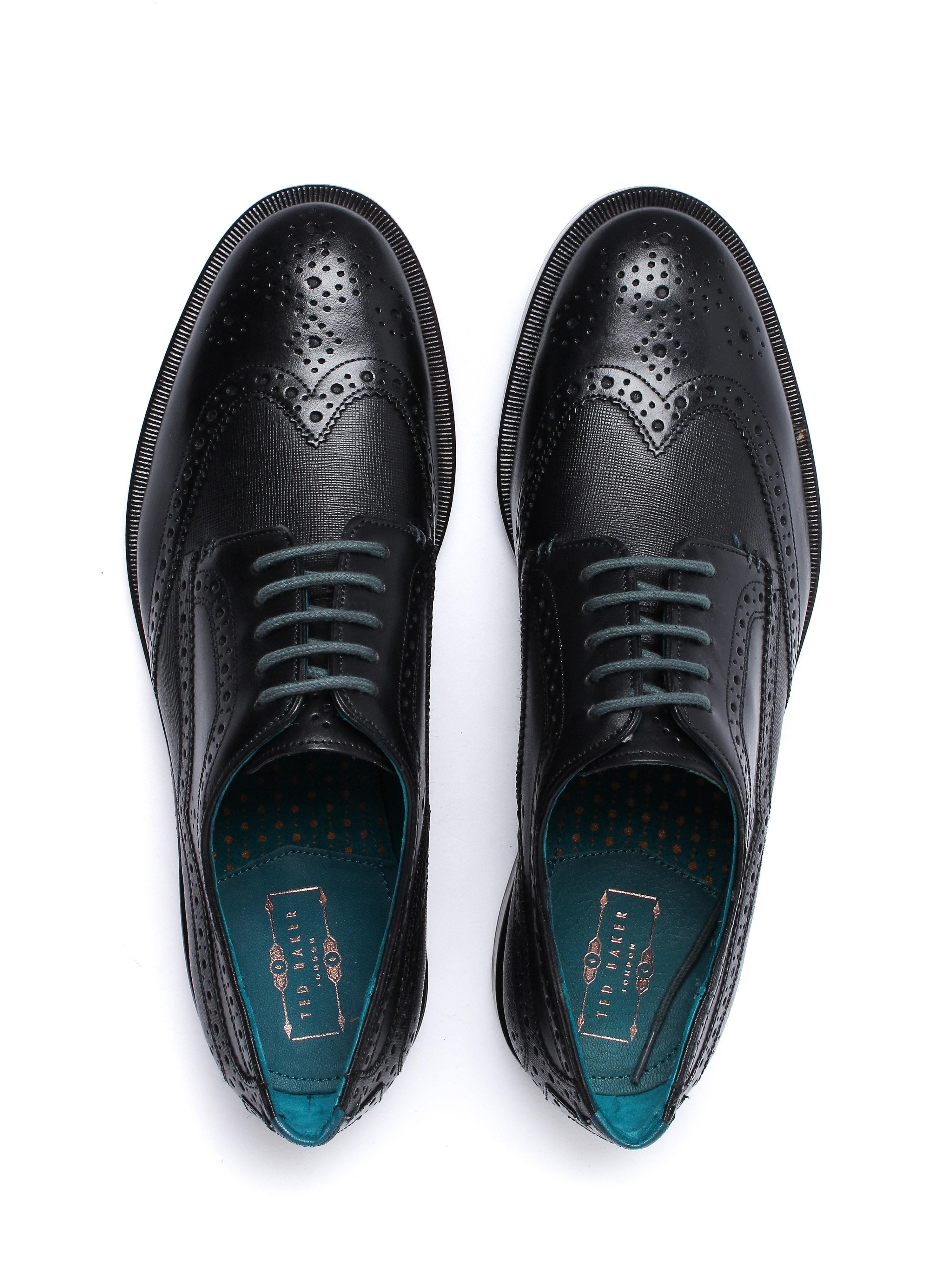 Ted Baker Men's Senape Oxford Brogues - Black Leather