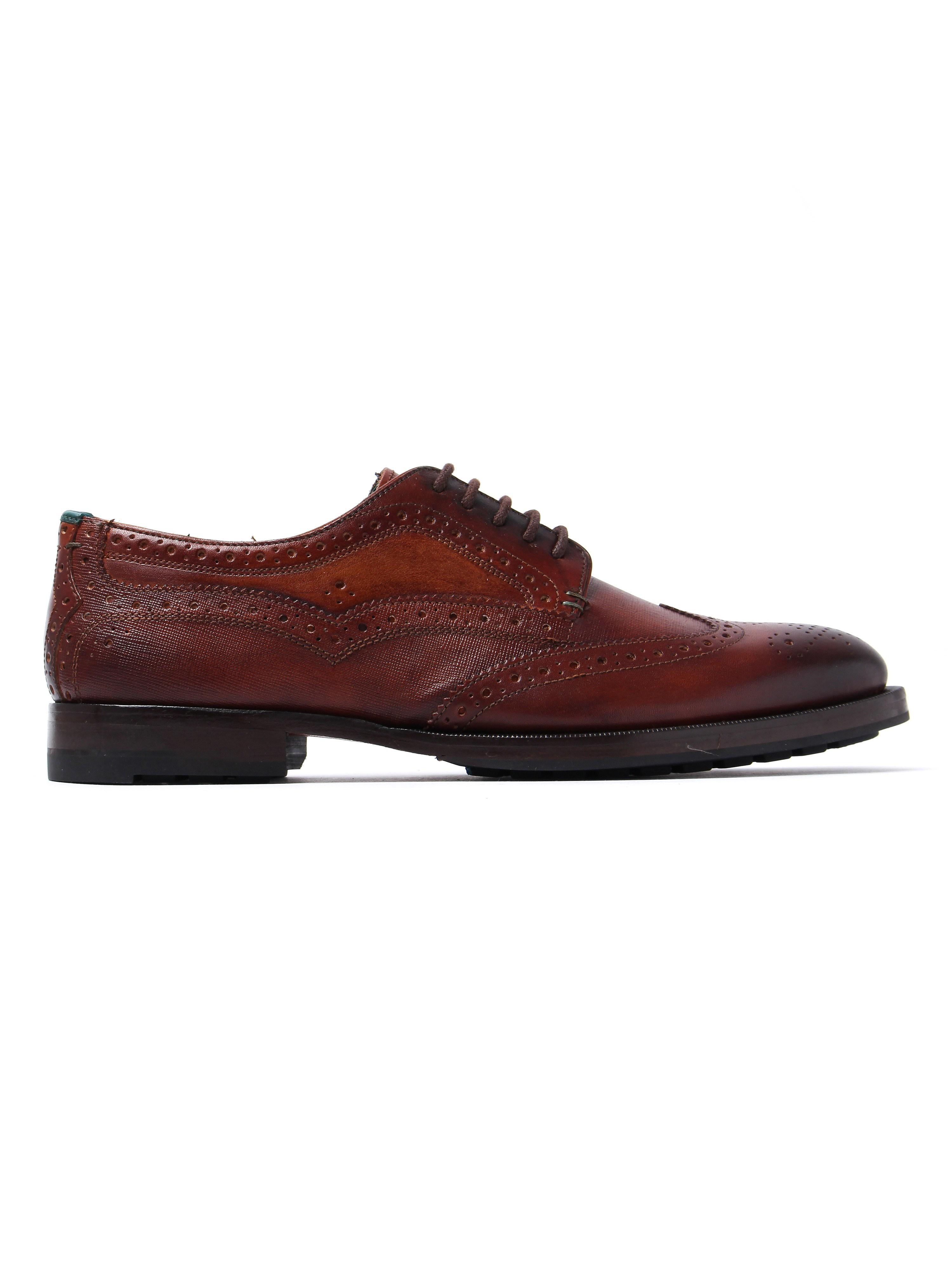 Ted Baker Men's Senape Oxford Brogues - Tan Leather