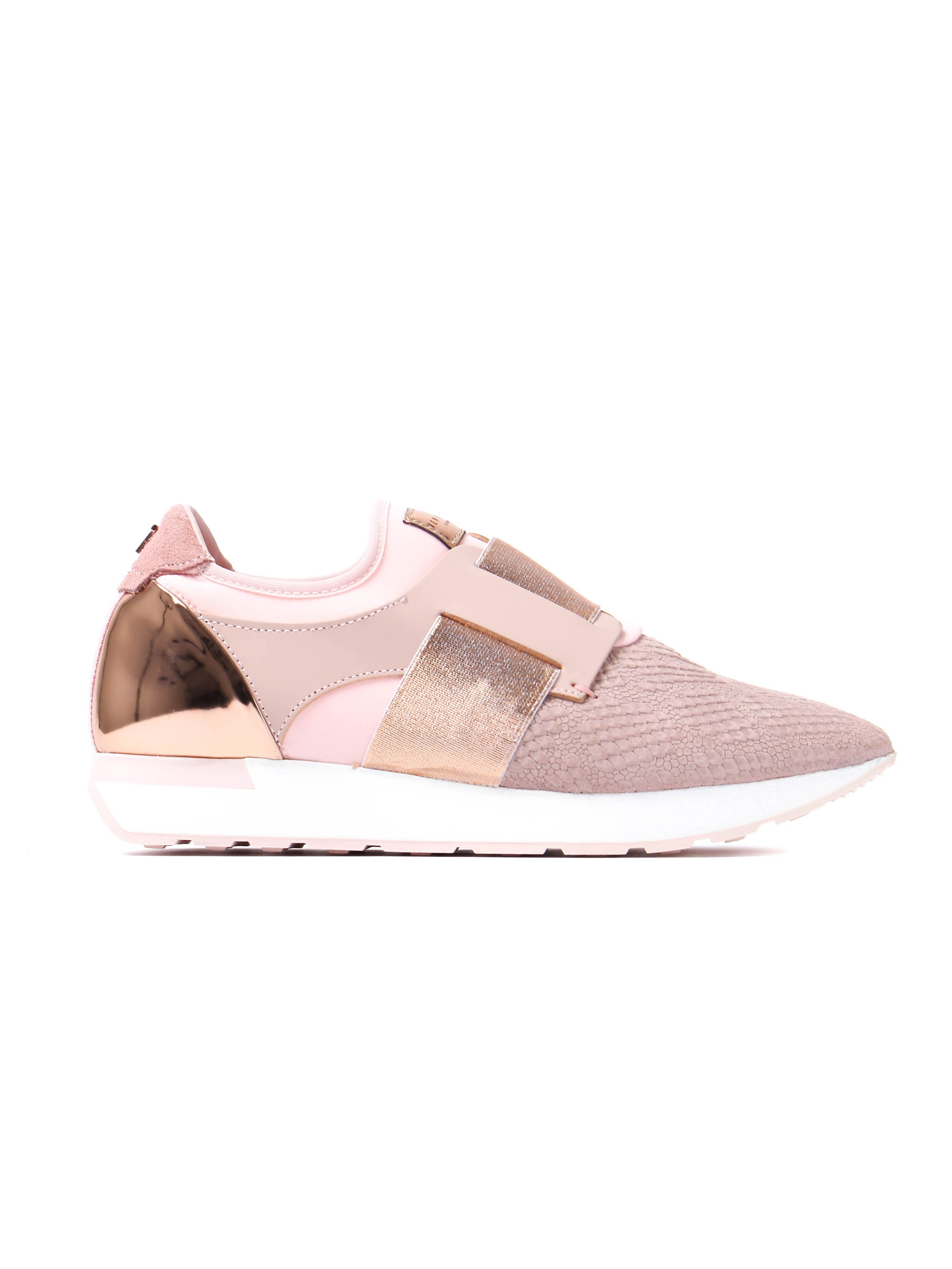 Ted Baker Women's Kygoa Embossed Trainers - Light Pink Leather